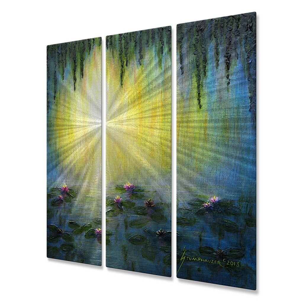 Shop Metal Wall Art WaterLilies Jerome Stumphauzer - Free Shipping ...