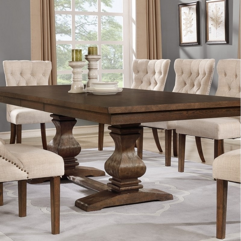 Shop Best Quality Furniture Rectangular Walnut Extension Dining Table