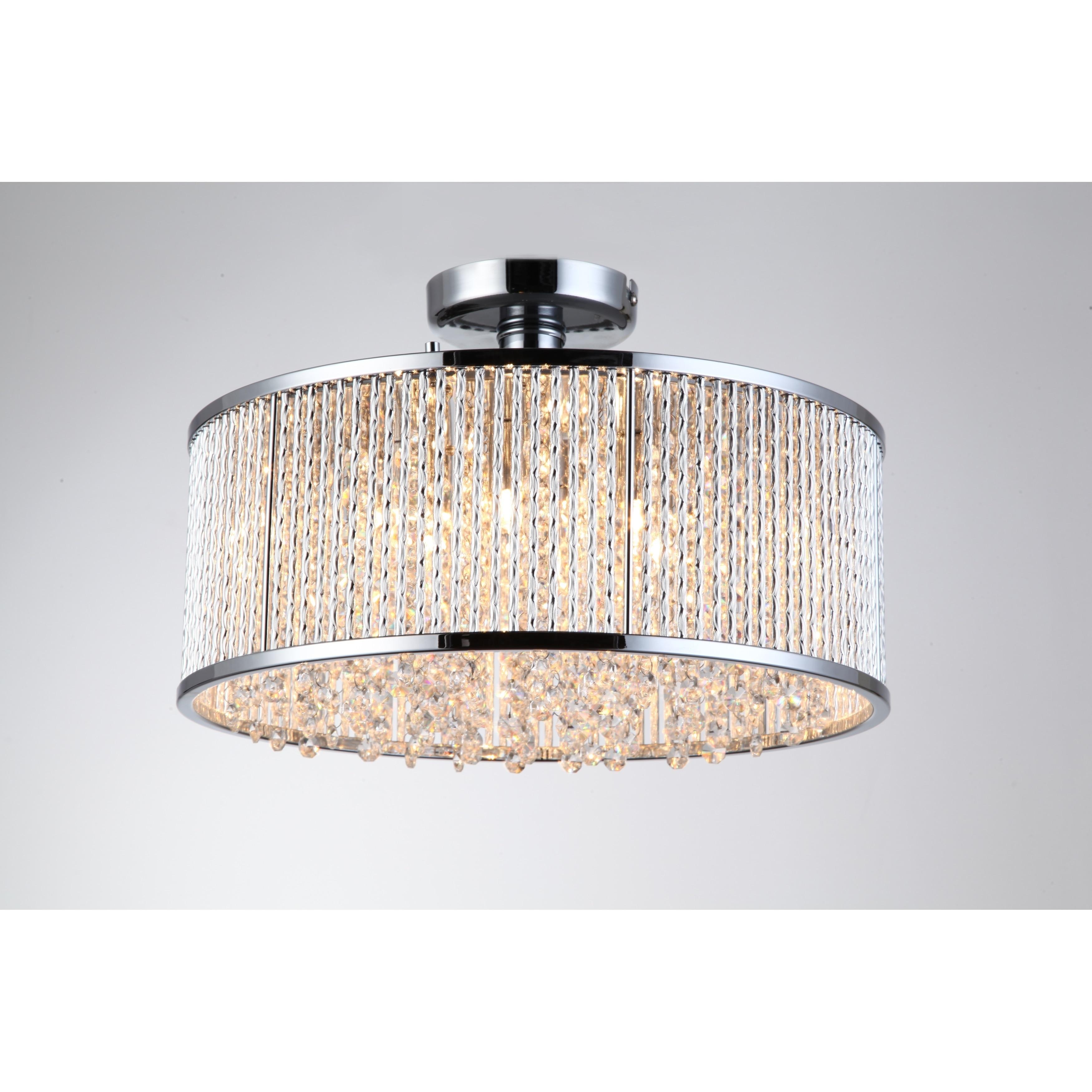 Crystalline 6 Light Semi Flush Mount Ceiling Light Free Shipping