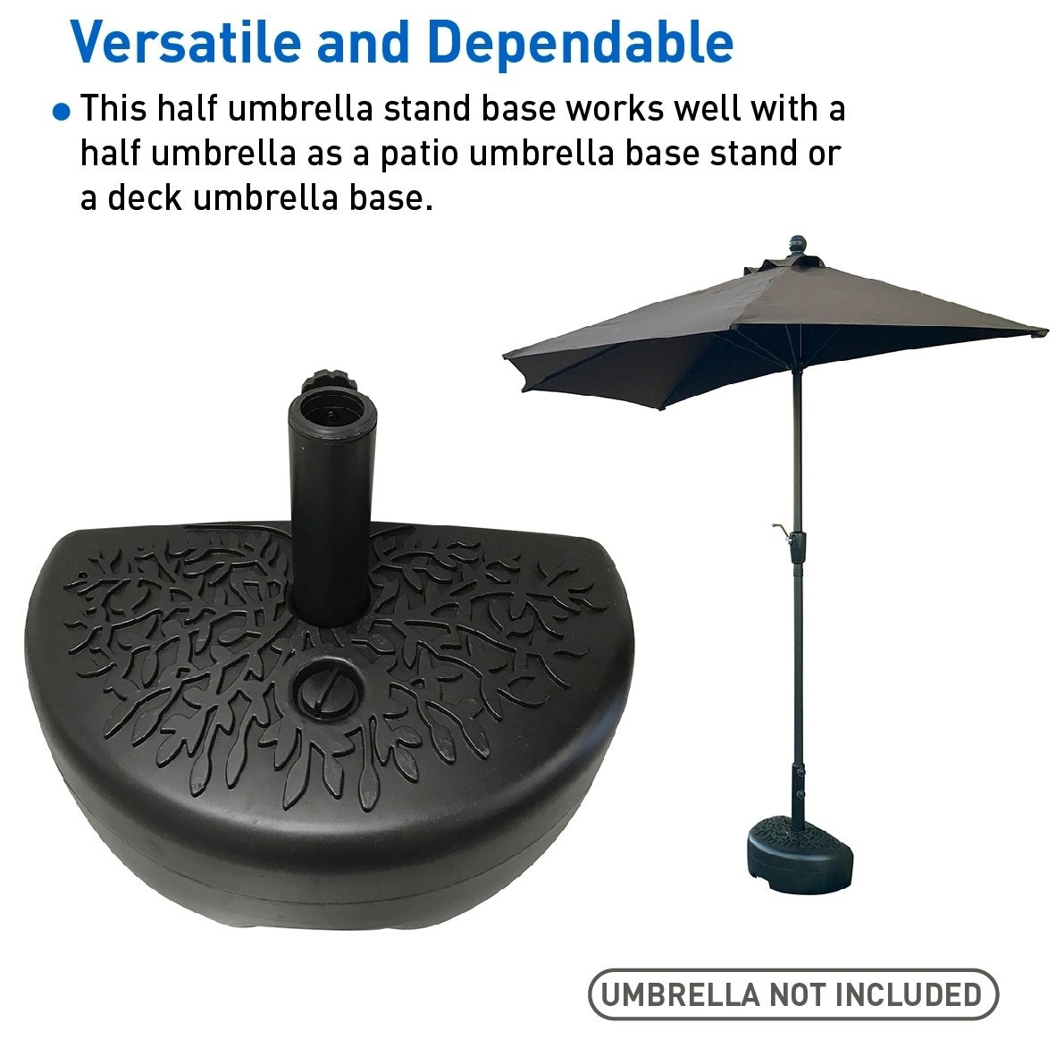 Shop Easygo Half Umbrella Base Weight Water Weighted Universal
