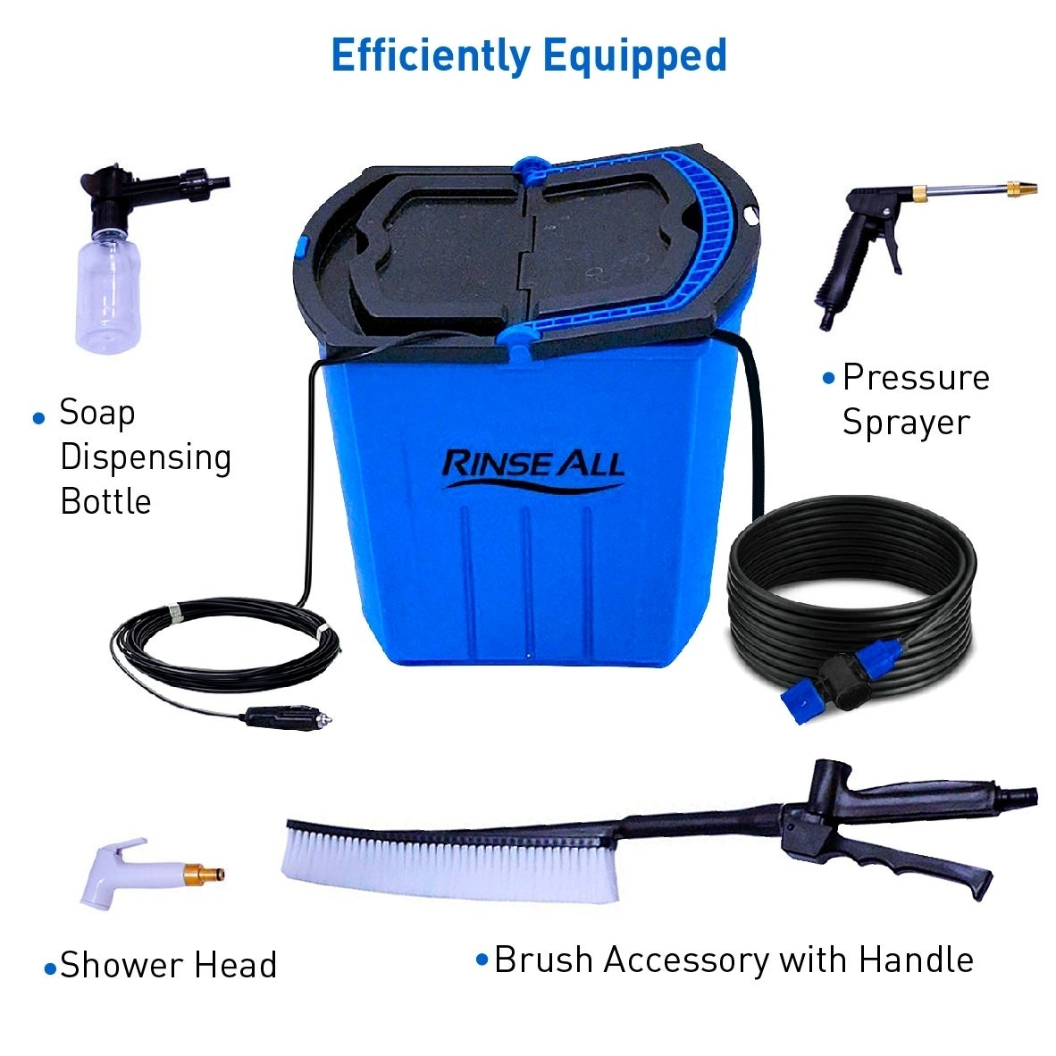 Shop Rinse All EW10 -12V Powered Car Washer Kit - 7 Gallons Portable ...