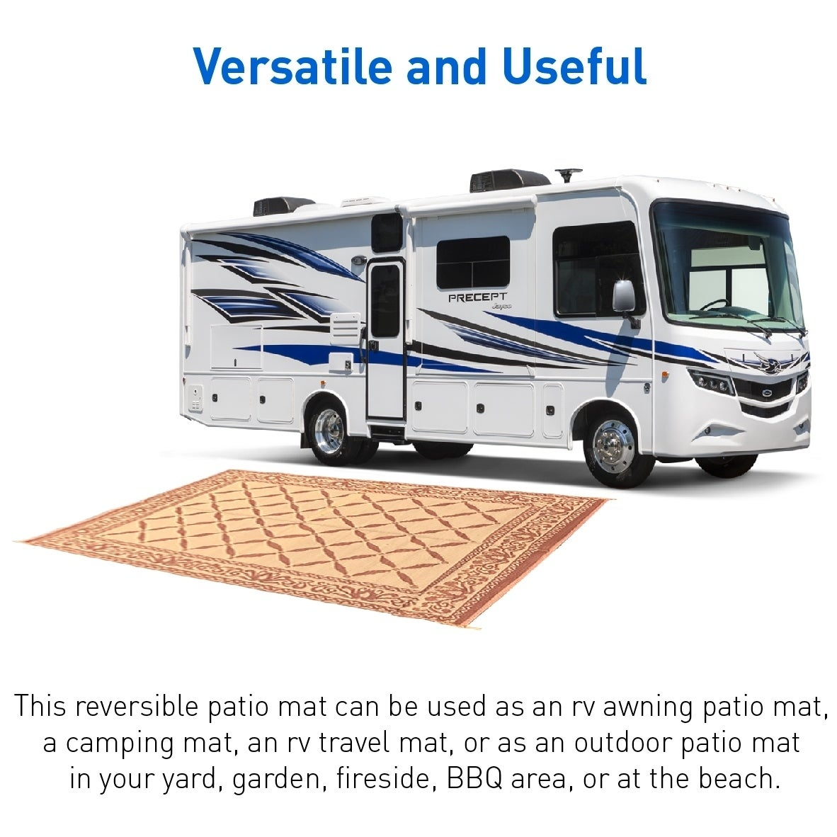Shop Rv Camping Mats 9 X 12 Outdoor Patio Mat Reversible Rv Mat