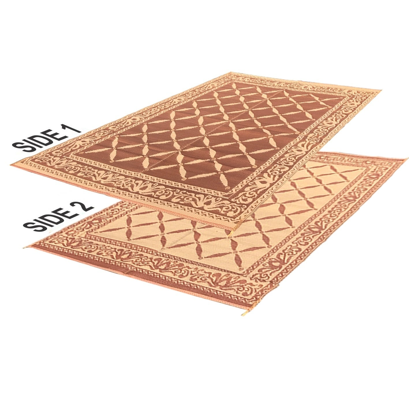 RV Camping Mats 9 x 12 Outdoor Patio Mat Reversible RV Mat