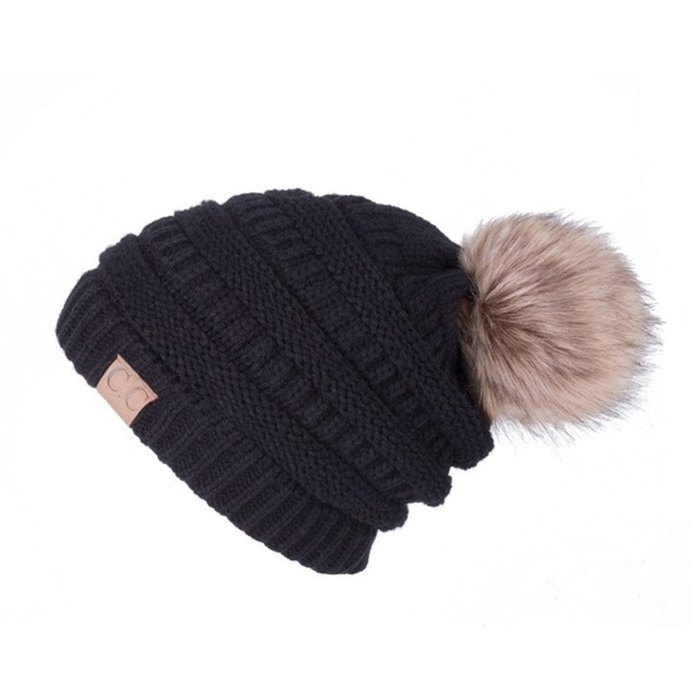 9e3c90a0cf970 Shop Slouchy Beanie Faux Fur Pom Pom - On Sale - Free Shipping On Orders  Over  45 - Overstock - 18182804