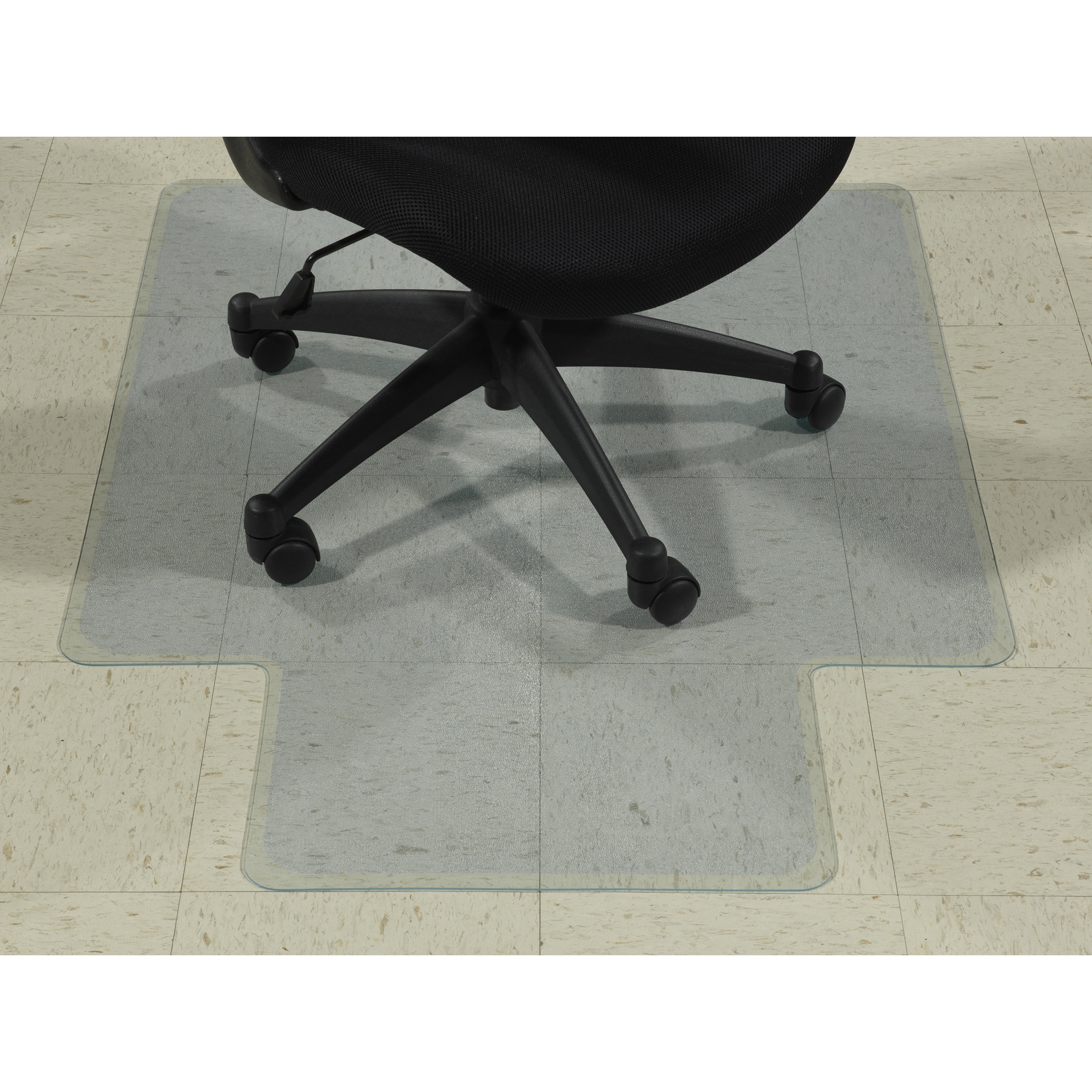 shop ottomanson hard floor chair mat with lip clear plastic mat