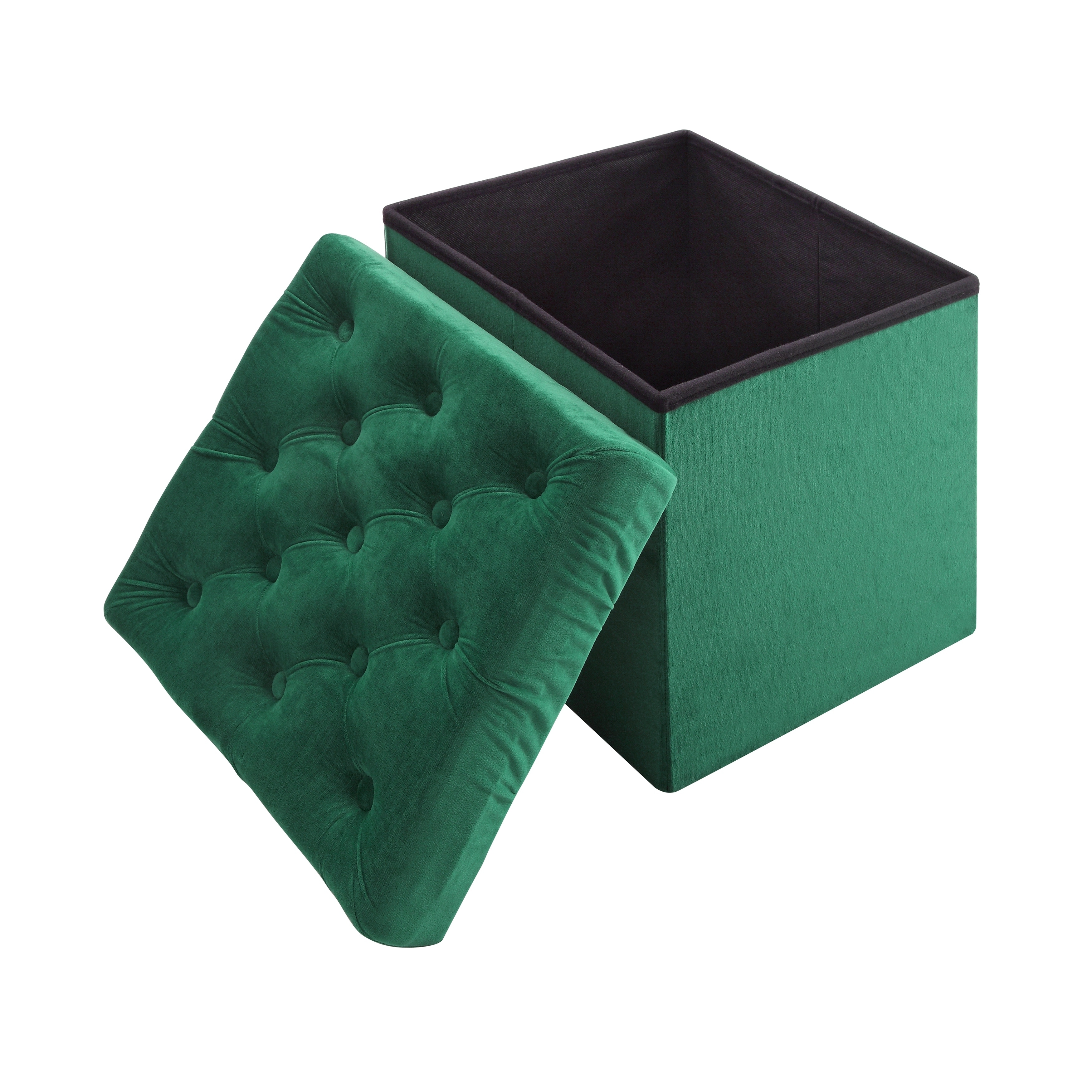 Shop Foldable Storage Cube Ottoman Stool, 2 Piece Set   On Sale   Free  Shipping On Orders Over $45   Overstock.com   18183033