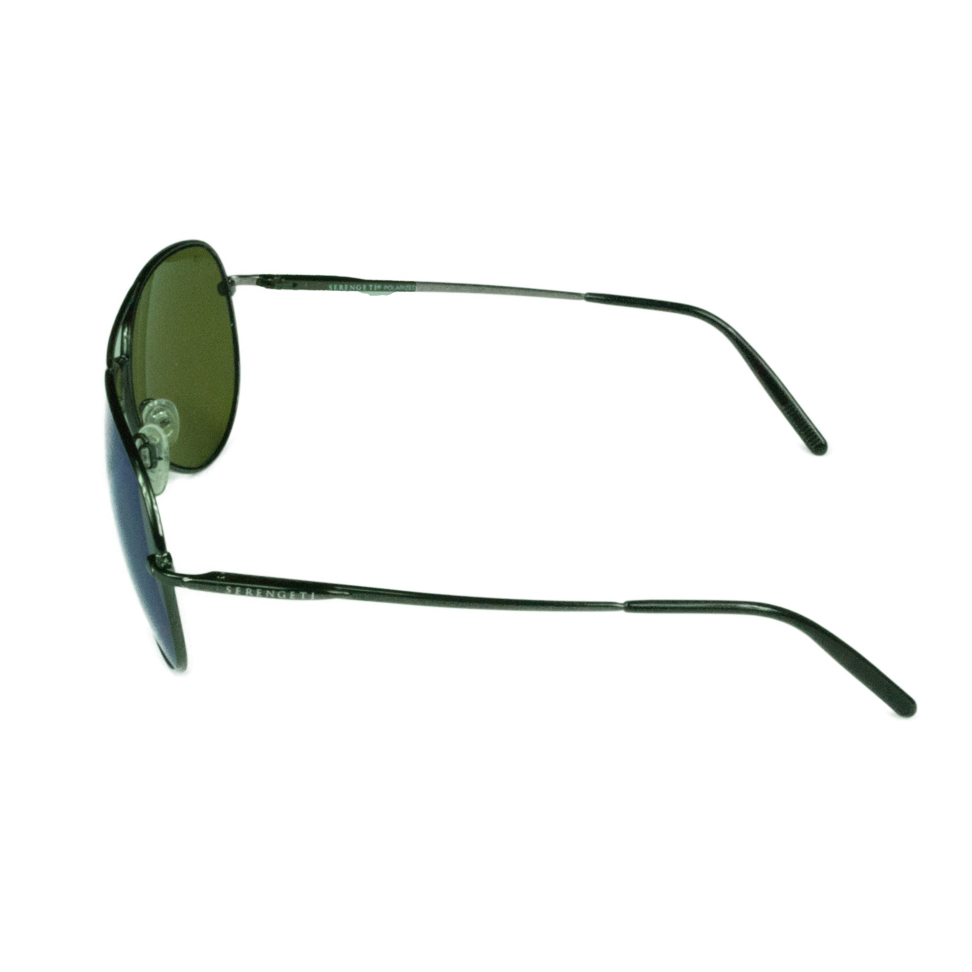 ed0376ebbf Shop Serengeti Fashion Unisex Medium Aviator 8265 Shiny Dark Gunmetal w  Polarized  555NM Blue Lens Sunglasses - Ships To Canada - Overstock.ca - 18183613