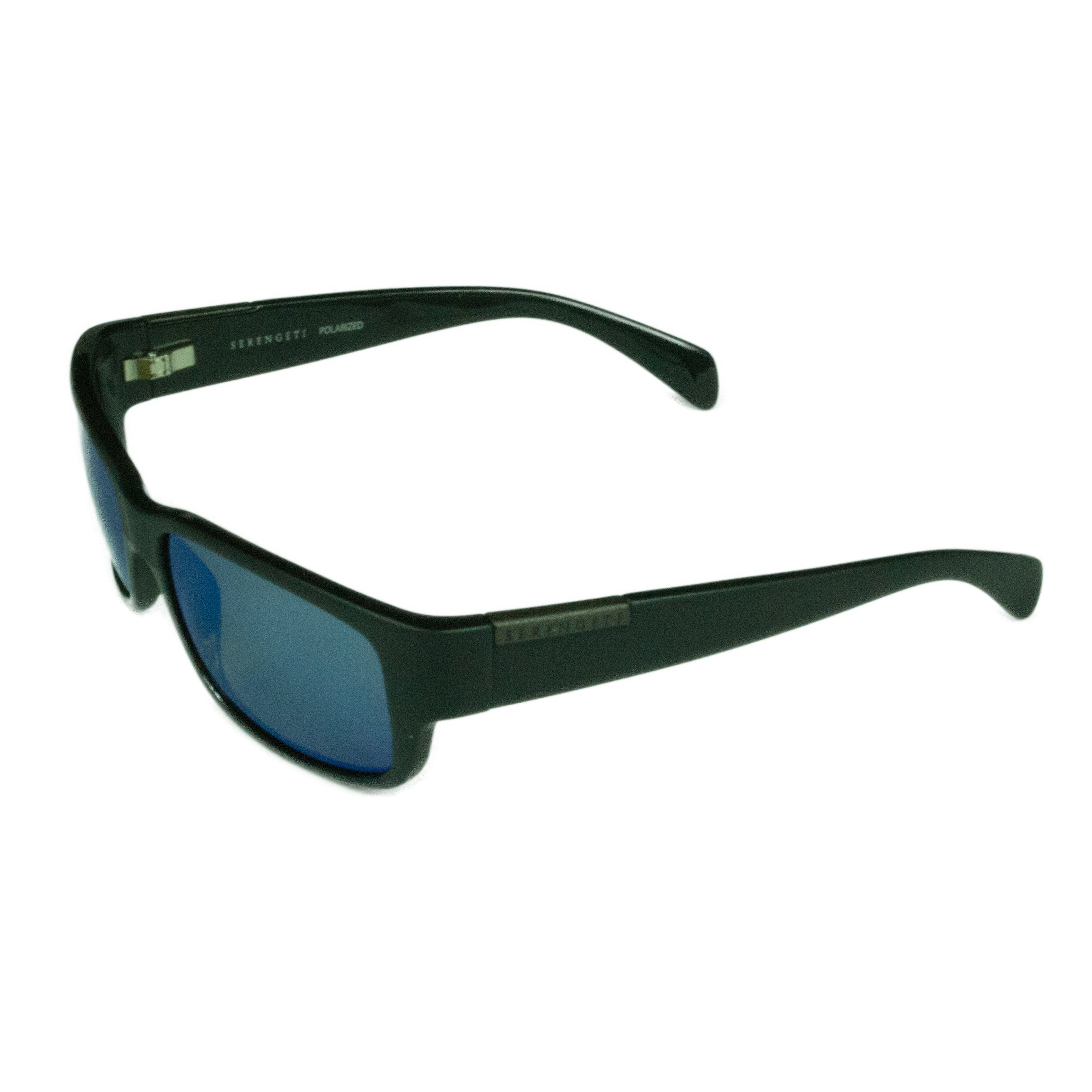 84cbf94bcc Serengeti Fashion Unisex Merano 8267 Satin Shiny Black w  Polarized 555NM  Blue Mirror Lens Sunglasses
