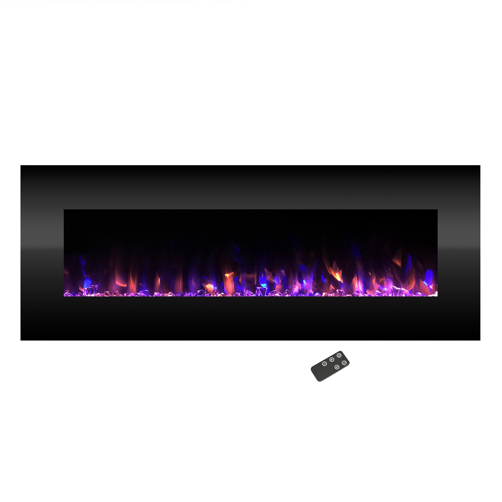Electric Fireplace Wall Mounted Color Changing Led Fire And Ice Flames No Heat Remote Control 54 Inch By Northwest Free Shipping Today