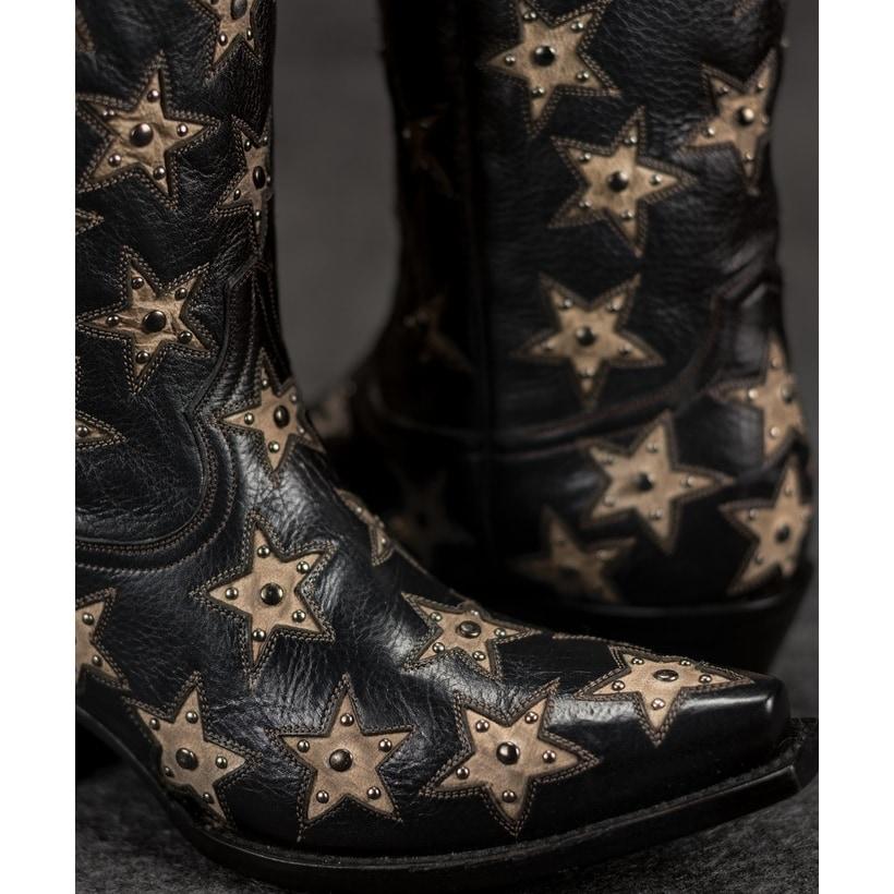 d9ae6560308 Black Star SWEETGRASS (Black/Silver) Women's Cowboy Boots