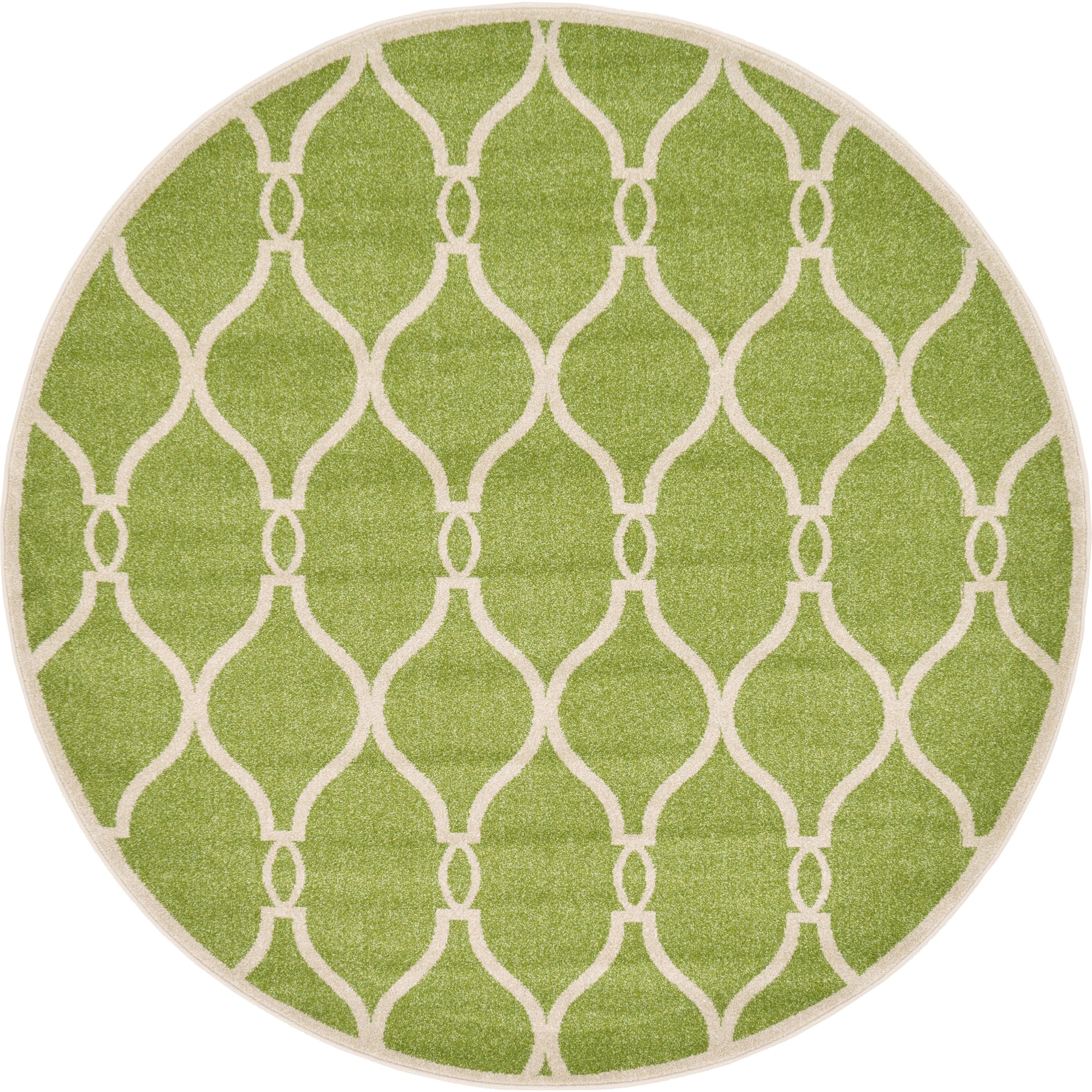 Unique Loom Seattle Trellis Round Rug - 6\' x 6\' - Free Shipping ...