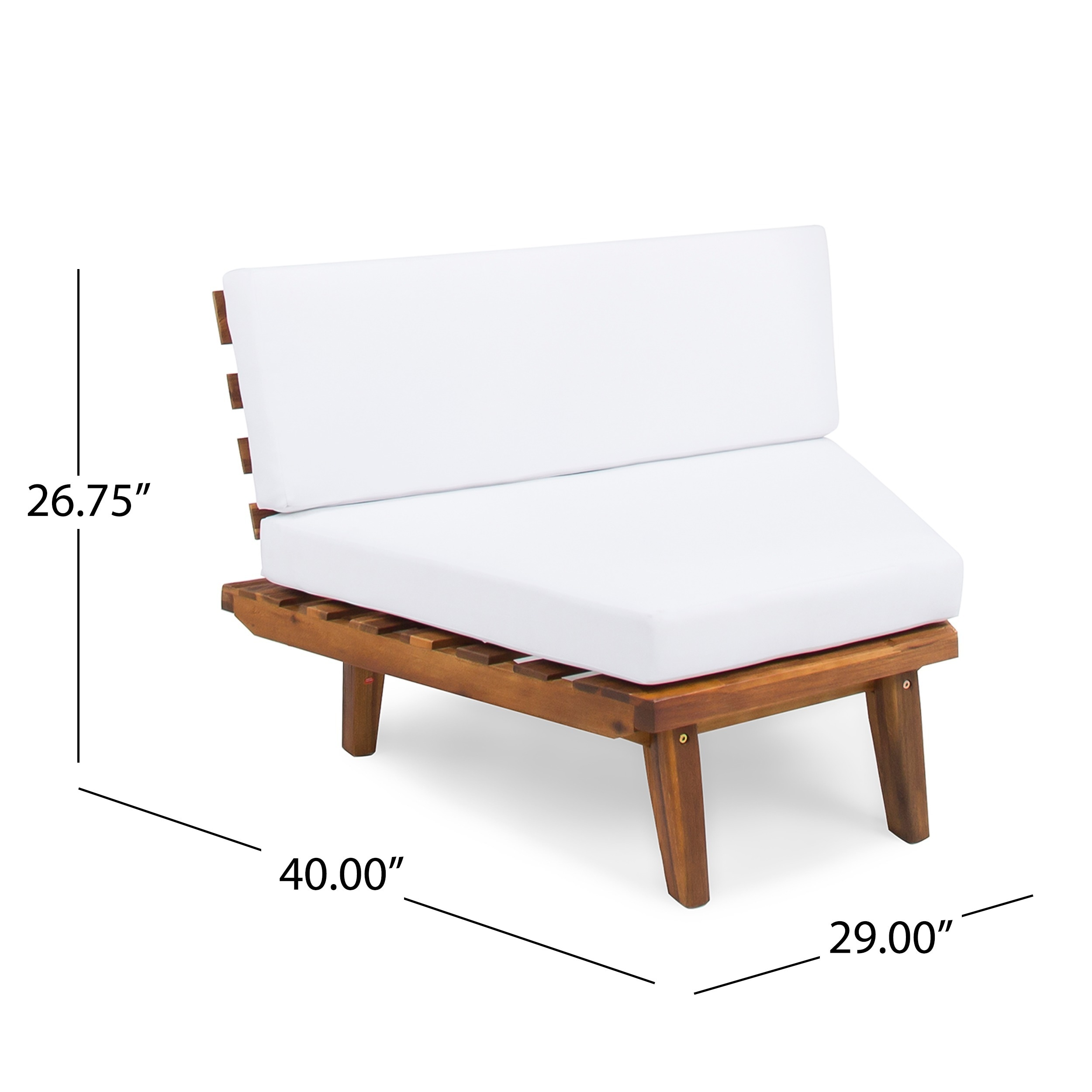 Shop Hillcrest Outdoor 4-piece V-Shaped Wood Sectional Sofa Set with ...