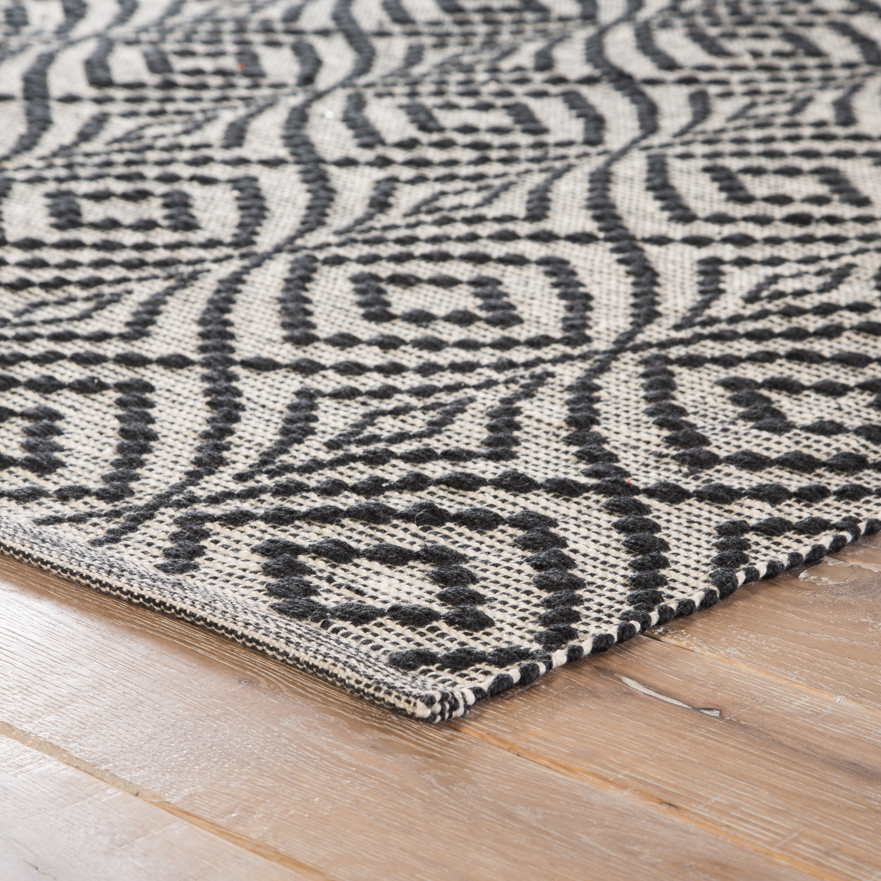 Arbor Handmade Trellis Black Cream Area Rug 2 X 3 Free Shipping On Orders Over 45 24337626