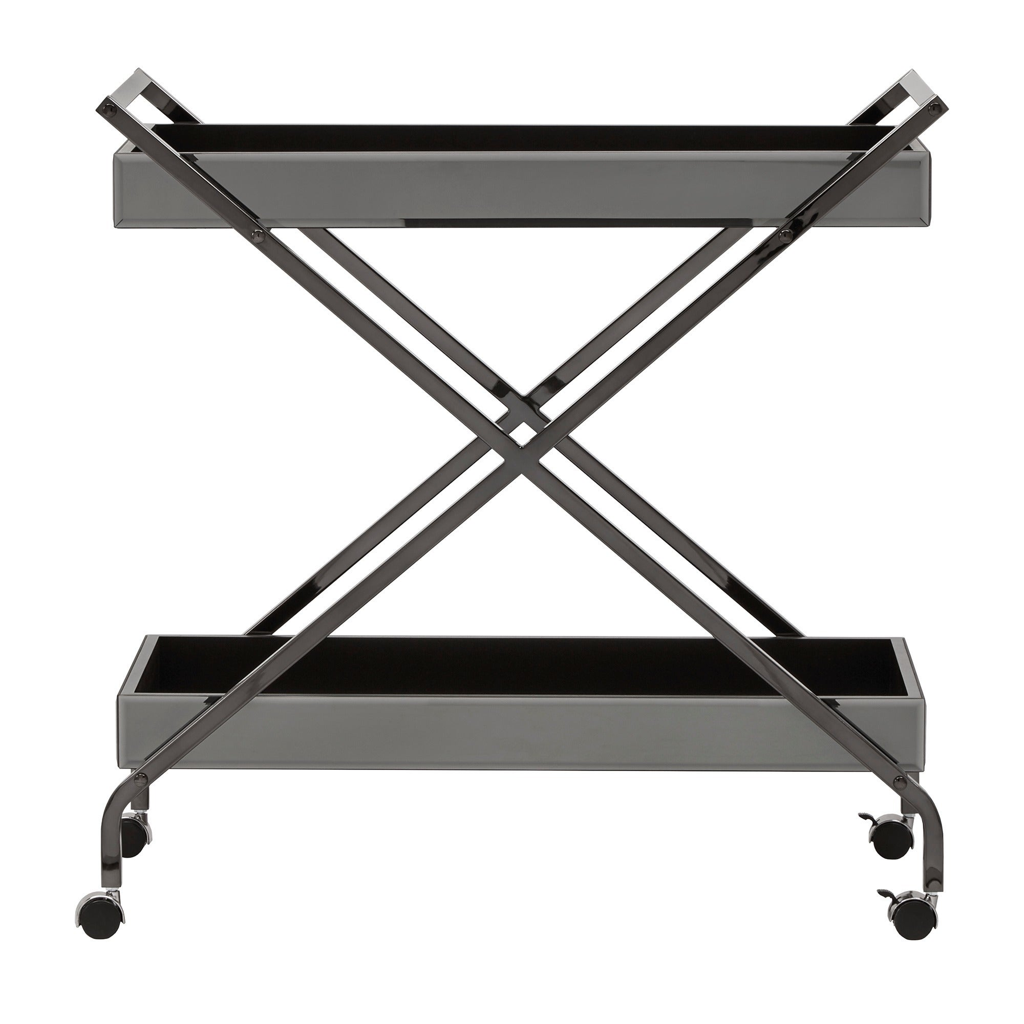 Zeke Contemporary Mirrored Metal Bar Cart by iNSPIRE Q Bold - Free Shipping  Today - Overstock.com - 24355638