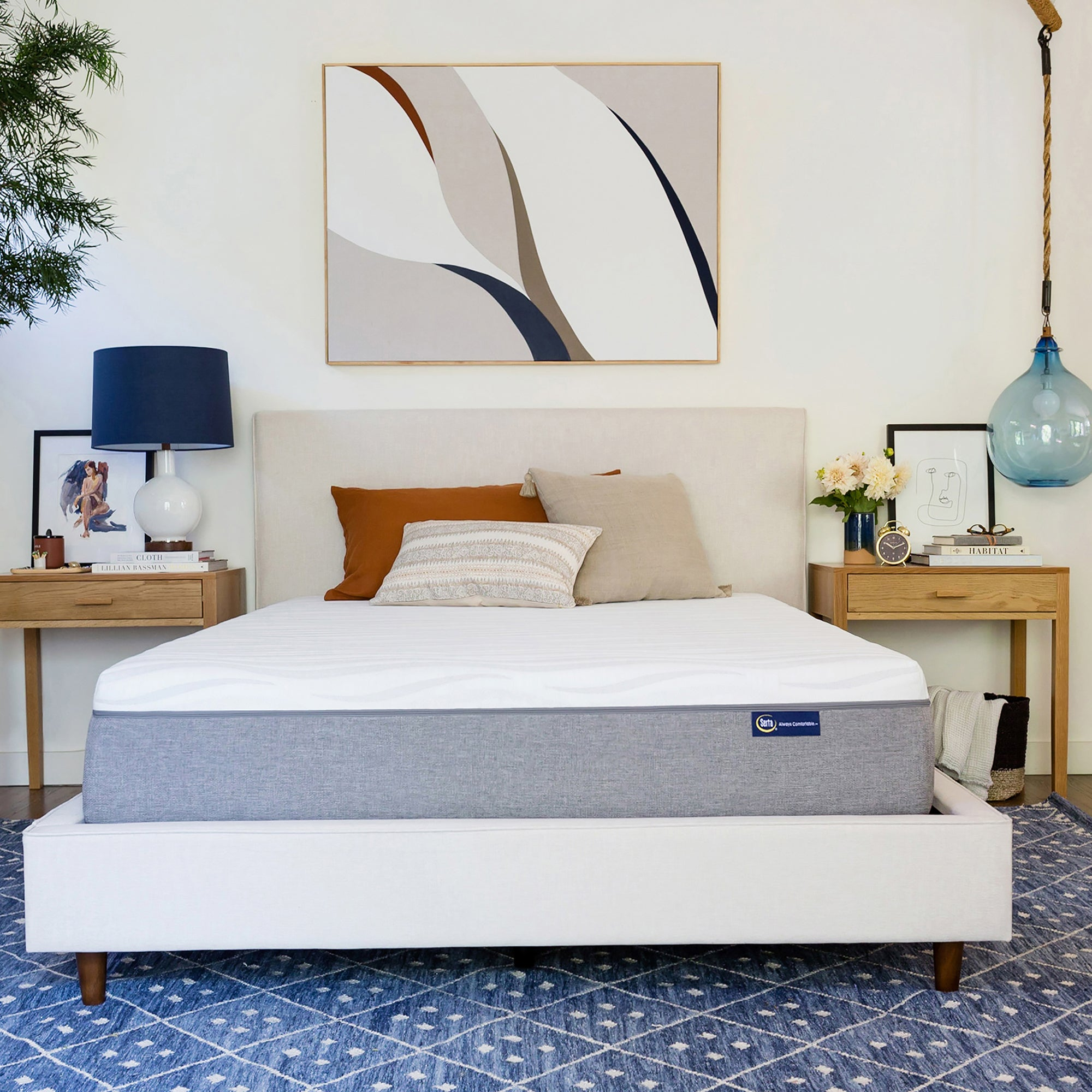 bacd serta bath overstock touch shipping topper inch bedding free of today mattress mattresses memory comfort product foam