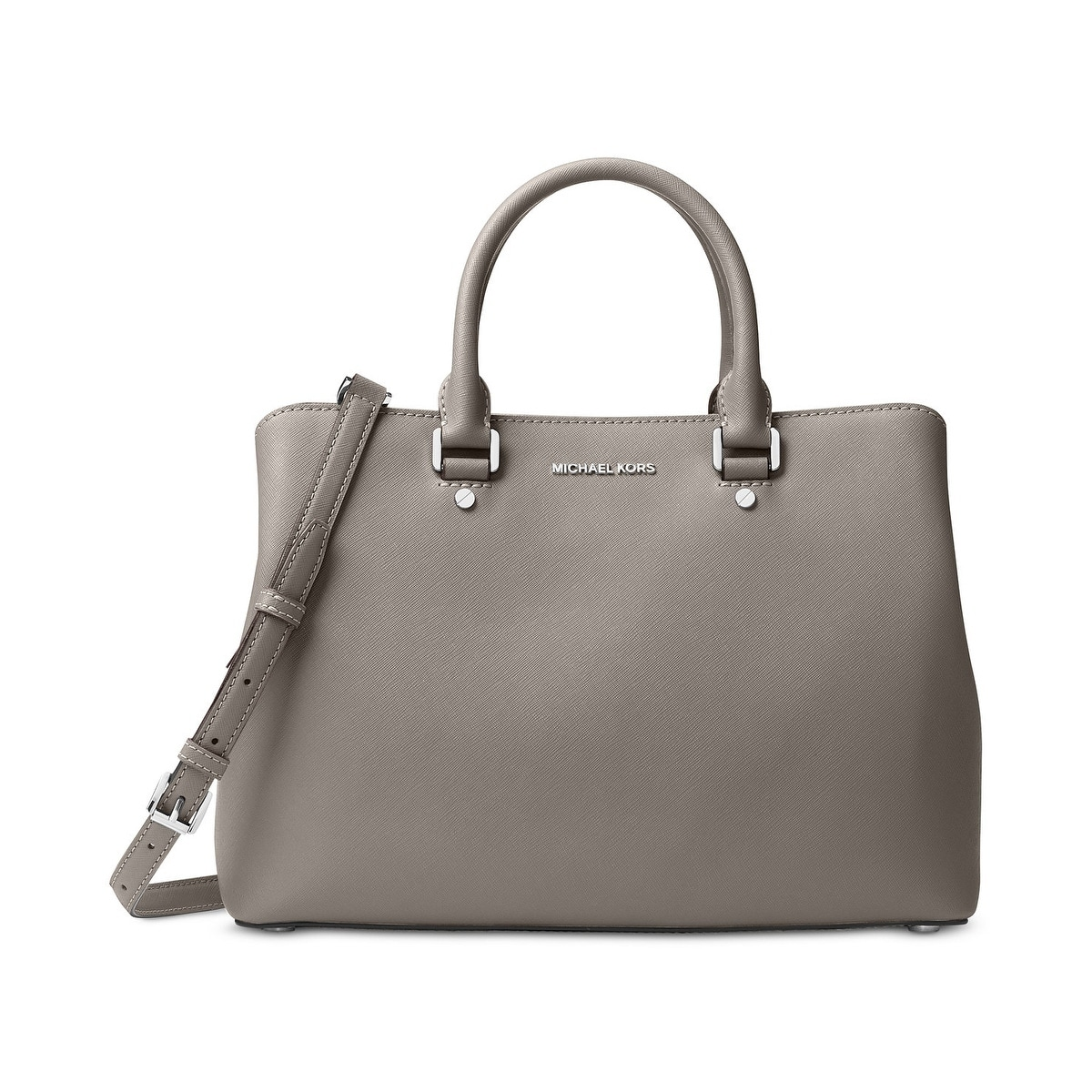 b6ae73ee07c06 Hamilton ... Shop Michael Kors Savannah Large Pearl Grey Satchel Bag - Free  Shipping Today - Overstock.