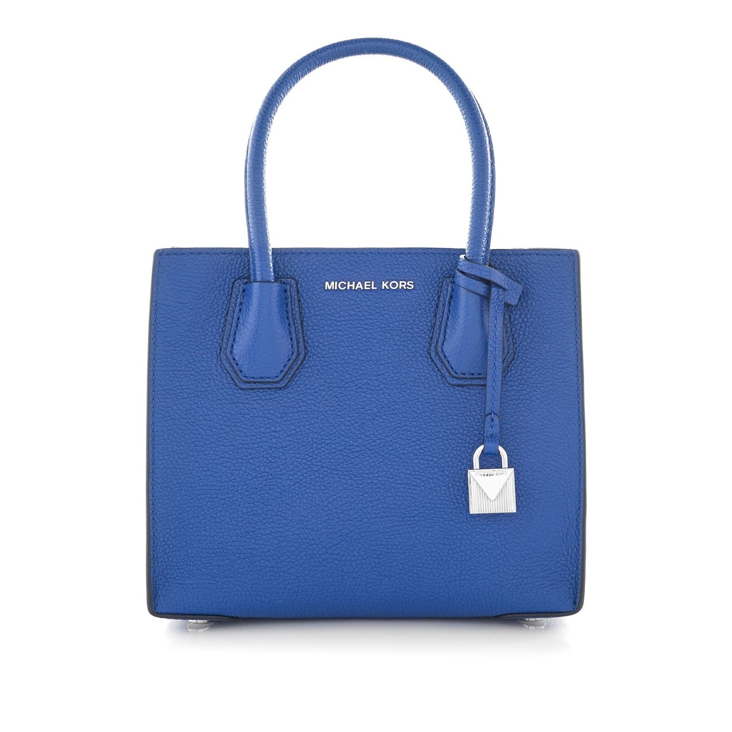 863674682452 MICHAEL Michael Kors Studio Mercer Medium Bonded-Leather Messenger Electric  Blue