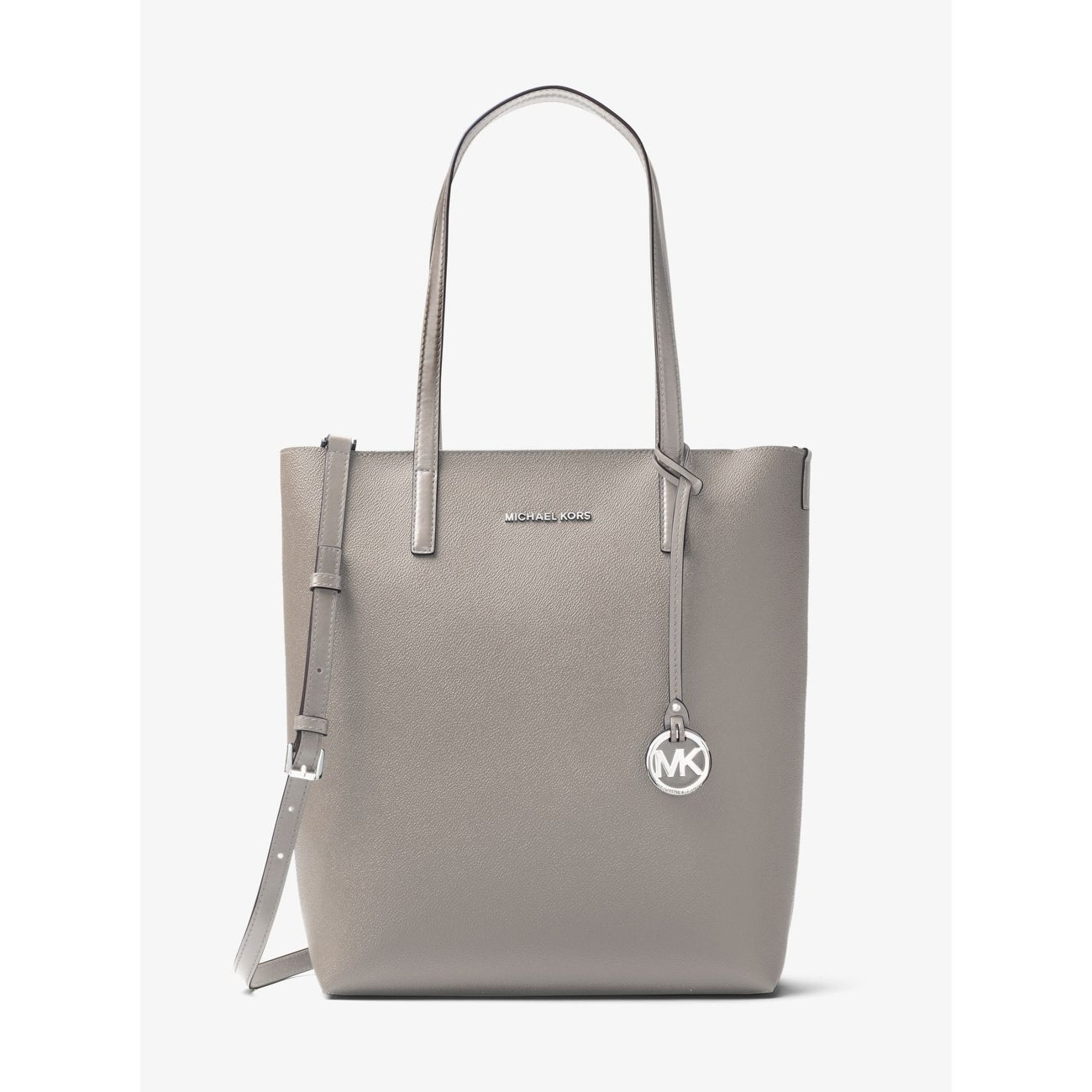 18776032651d Shop MICHAEL MICHAEL KORS Hayley Large Tote Pearl Grey Cement - Free ...