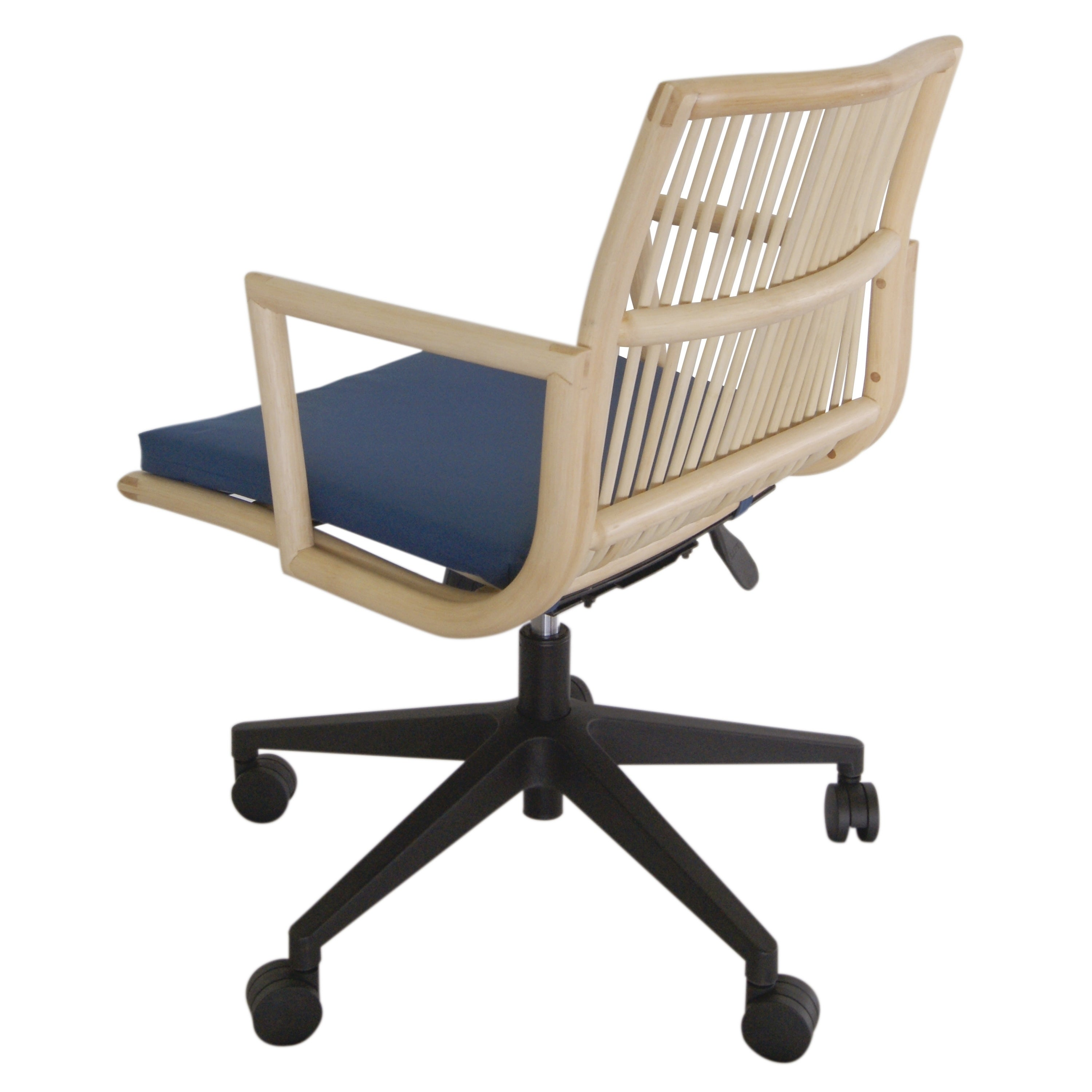 Virza Rattan Office Desk Chair With Cushion   Free Shipping Today    Overstock   24357678