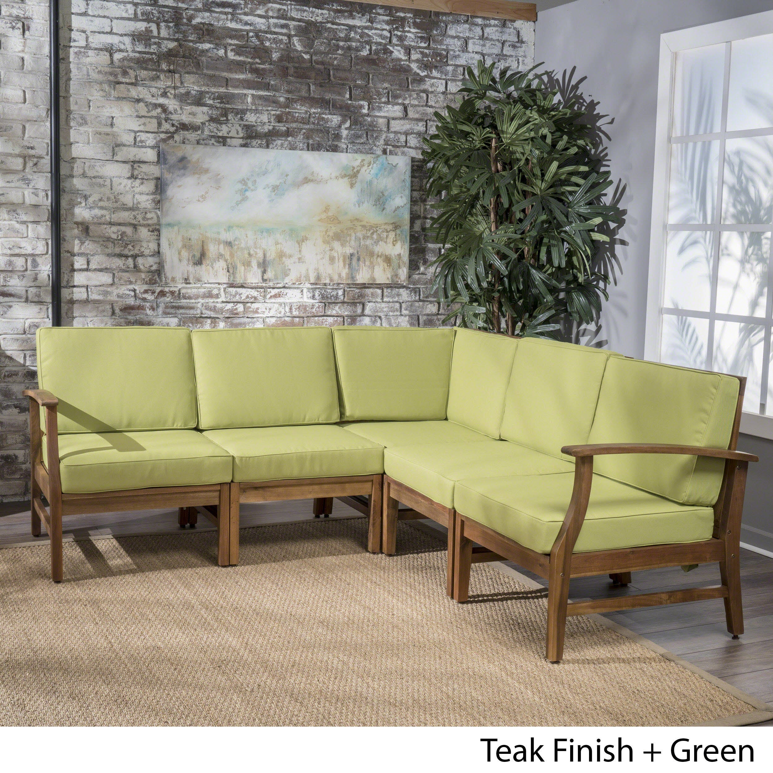 Shop Ulrick Farmhouse Modern 5 Piece Fabric Sectional Sofa Set By  Christopher Knight Home   On Sale   Free Shipping Today   Overstock.com    18215696