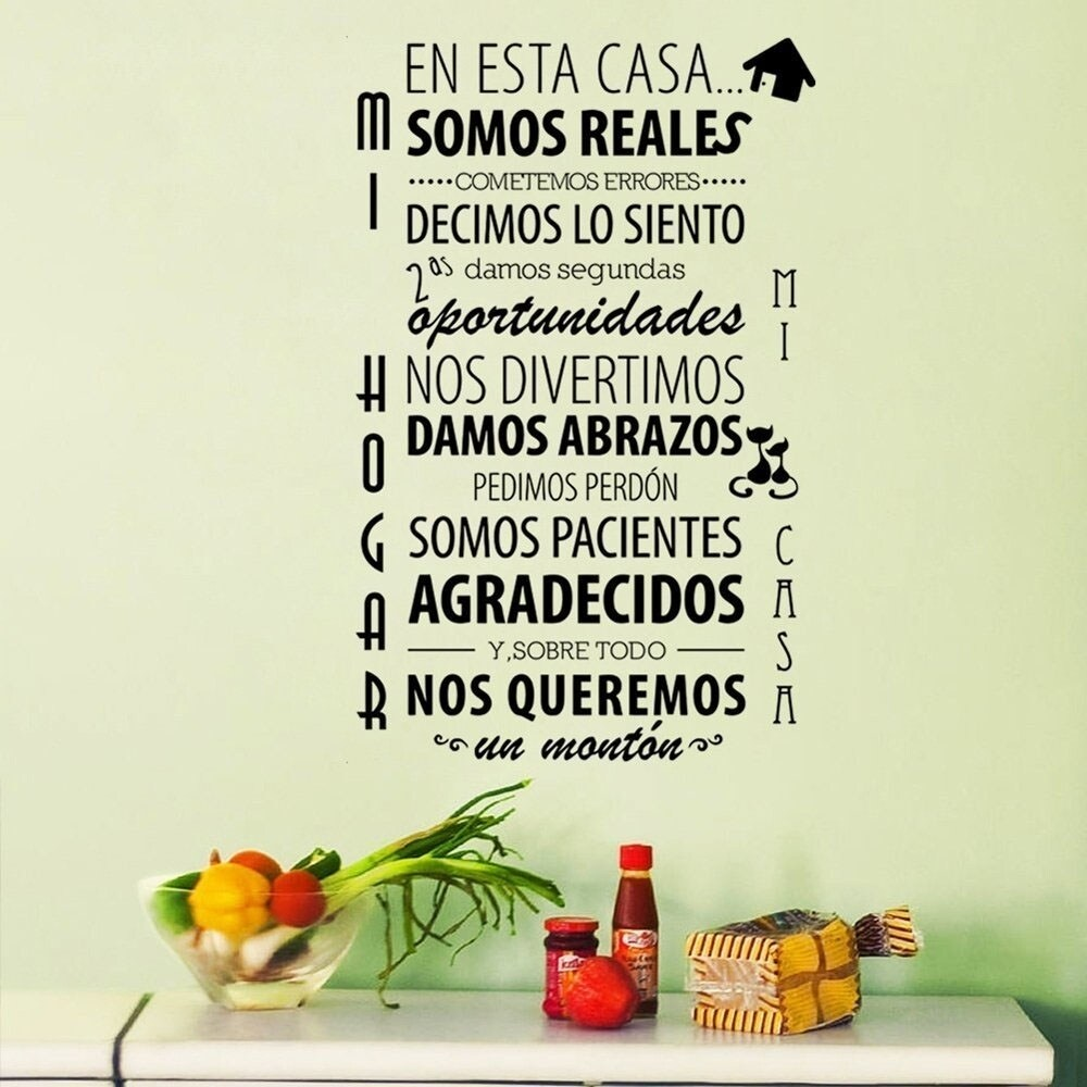 Shop En Esta Casa Spanish Quotes And Sayings Wall Decals 22 X 35