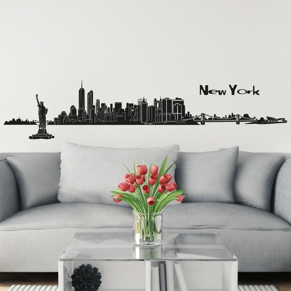 Shop New York Skyline Wall Sticker Wall Decal 488 X 79 Inch In