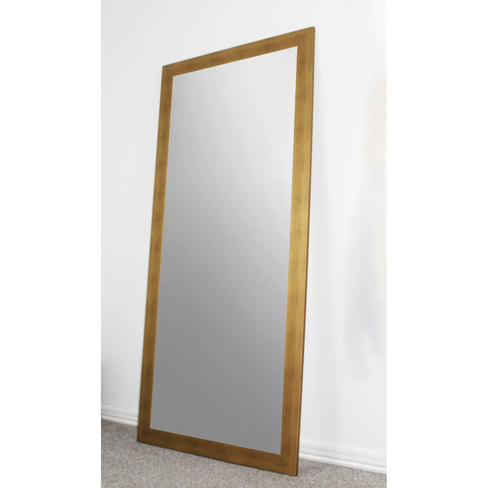 U S Made Full Body Floor Length Mirror Gold