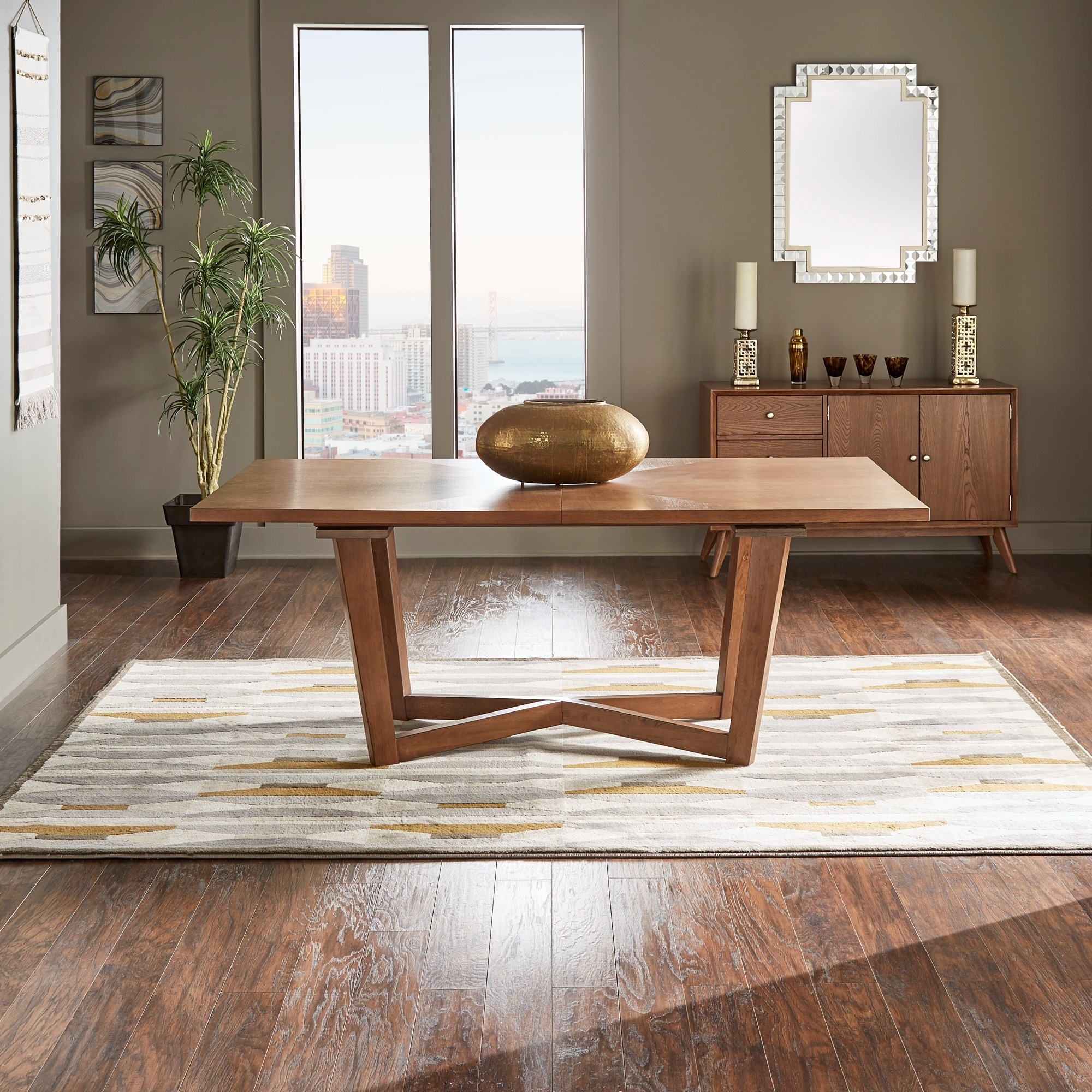 Connie Mid-Century Extending Wood Dining Table by iNSPIRE Q Modern - Free  Shipping Today - Overstock.com - 24359996