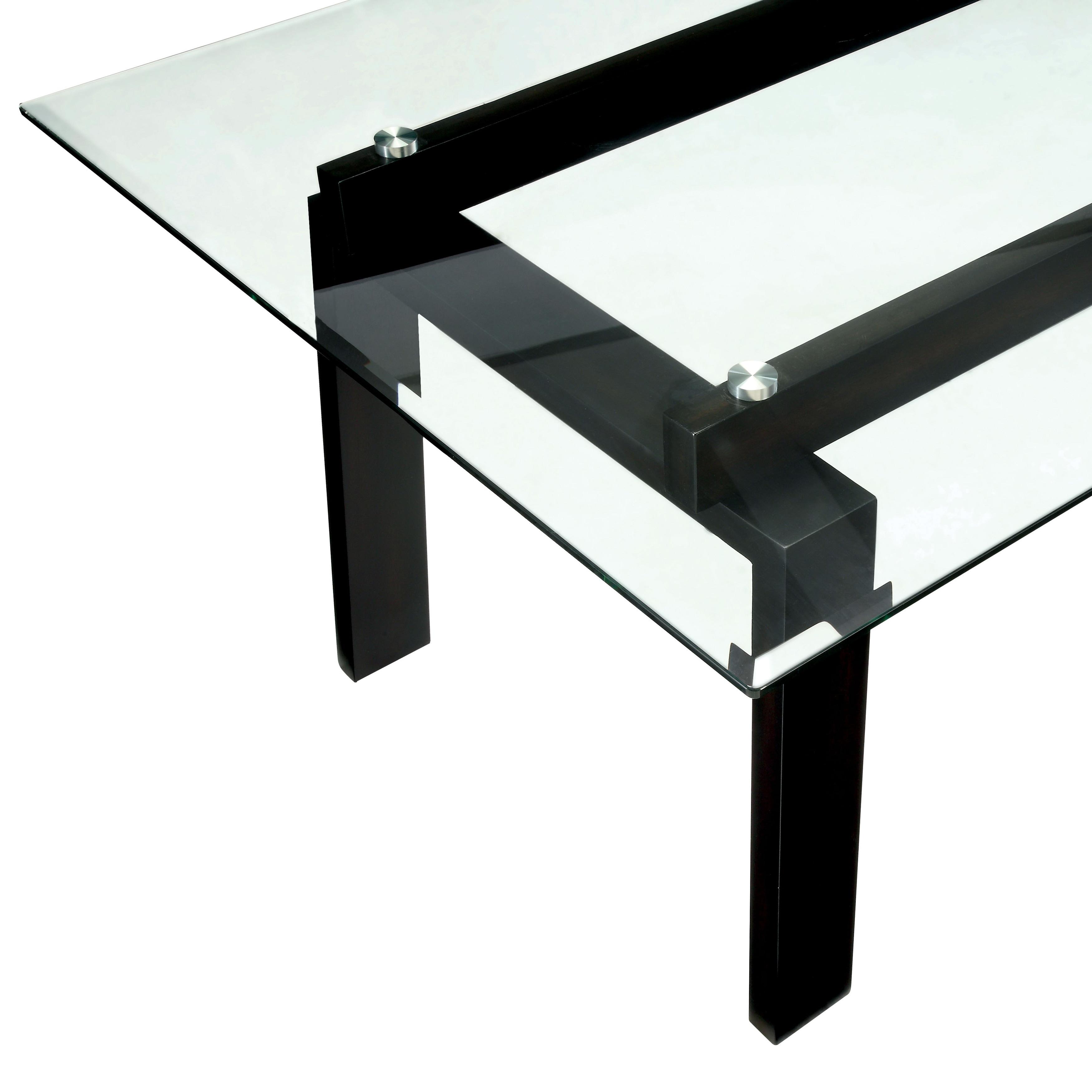 Furniture of America Serafin Contemporary Glass Top