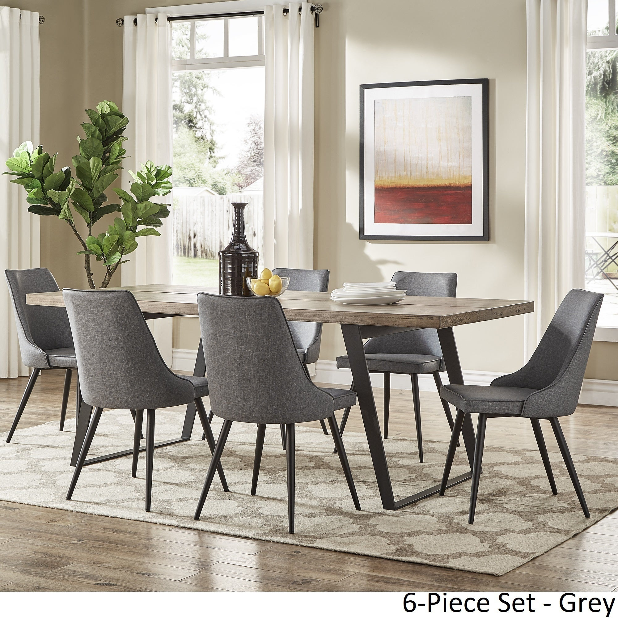 Division Mid-Century Split Top Rectangular Dining Set by iNSPIRE Q Modern -  Free Shipping Today - Overstock.com - 24360228