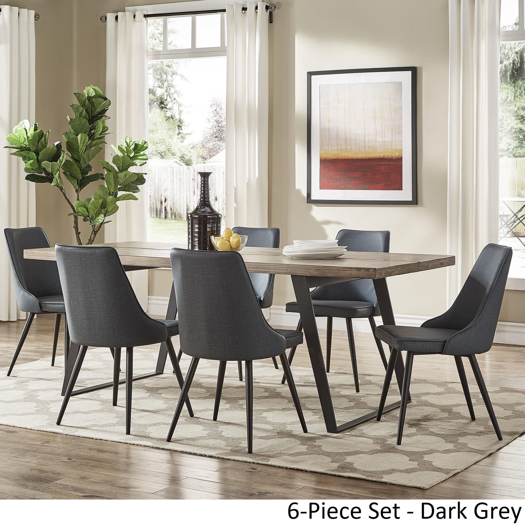 Shop Division Mid Century Split Top Rectangular Dining Set By INSPIRE Q Modern