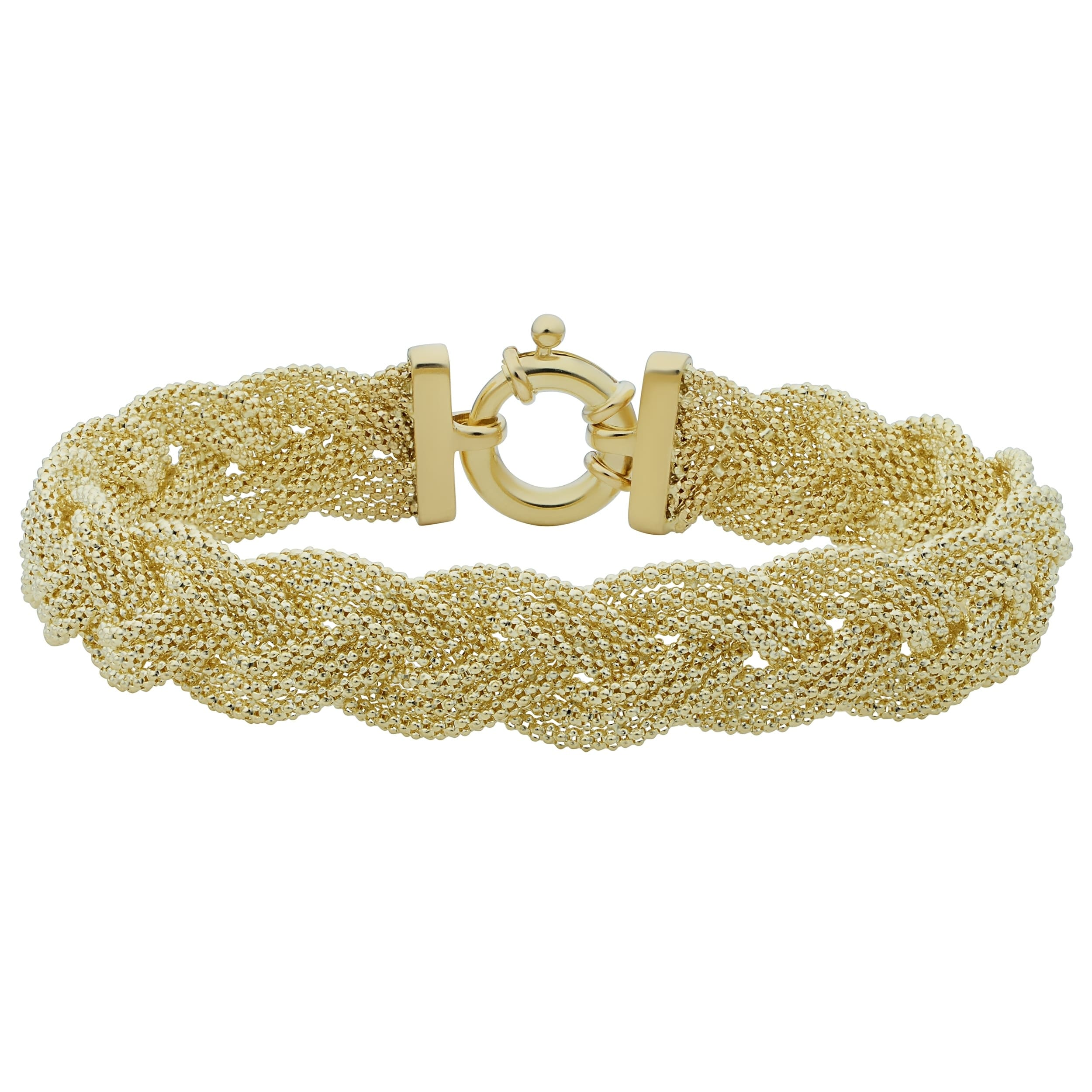 watches fremada jewelry chain product trople popcorn shipping overstock gold bracelet yellow bangle today bangles inch inches braided free