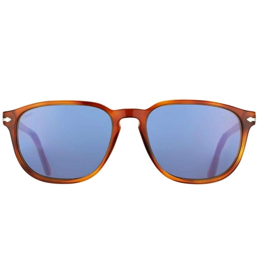11f1639e11 Shop Persol Square PO 3019 96 56 Unisex Terra Di Siena Frame Crystal Blue  Lens Sunglasses - Free Shipping Today - Overstock - 18218826