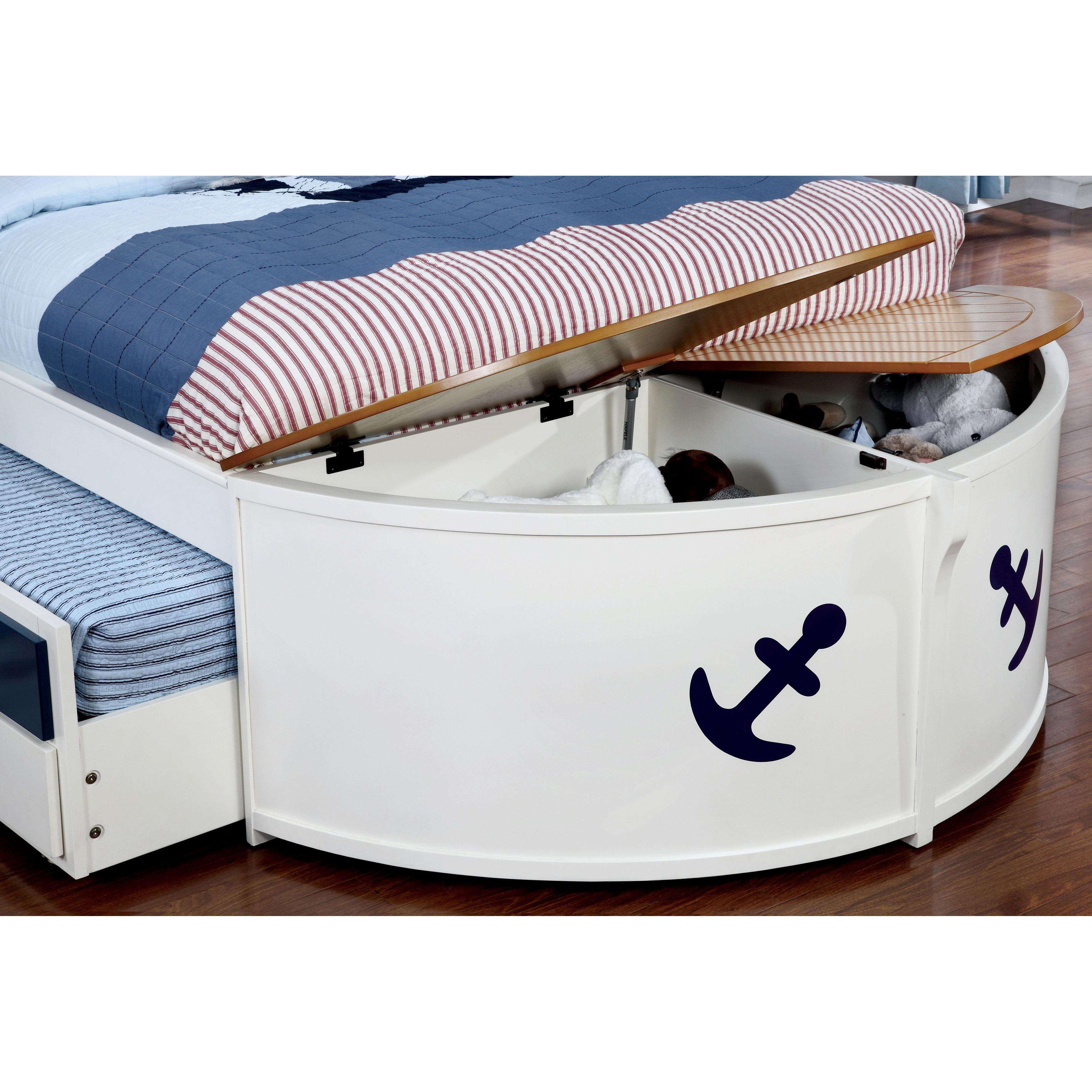 Shop Furniture Of America Capitaine White Oak Wood Boat Inspired