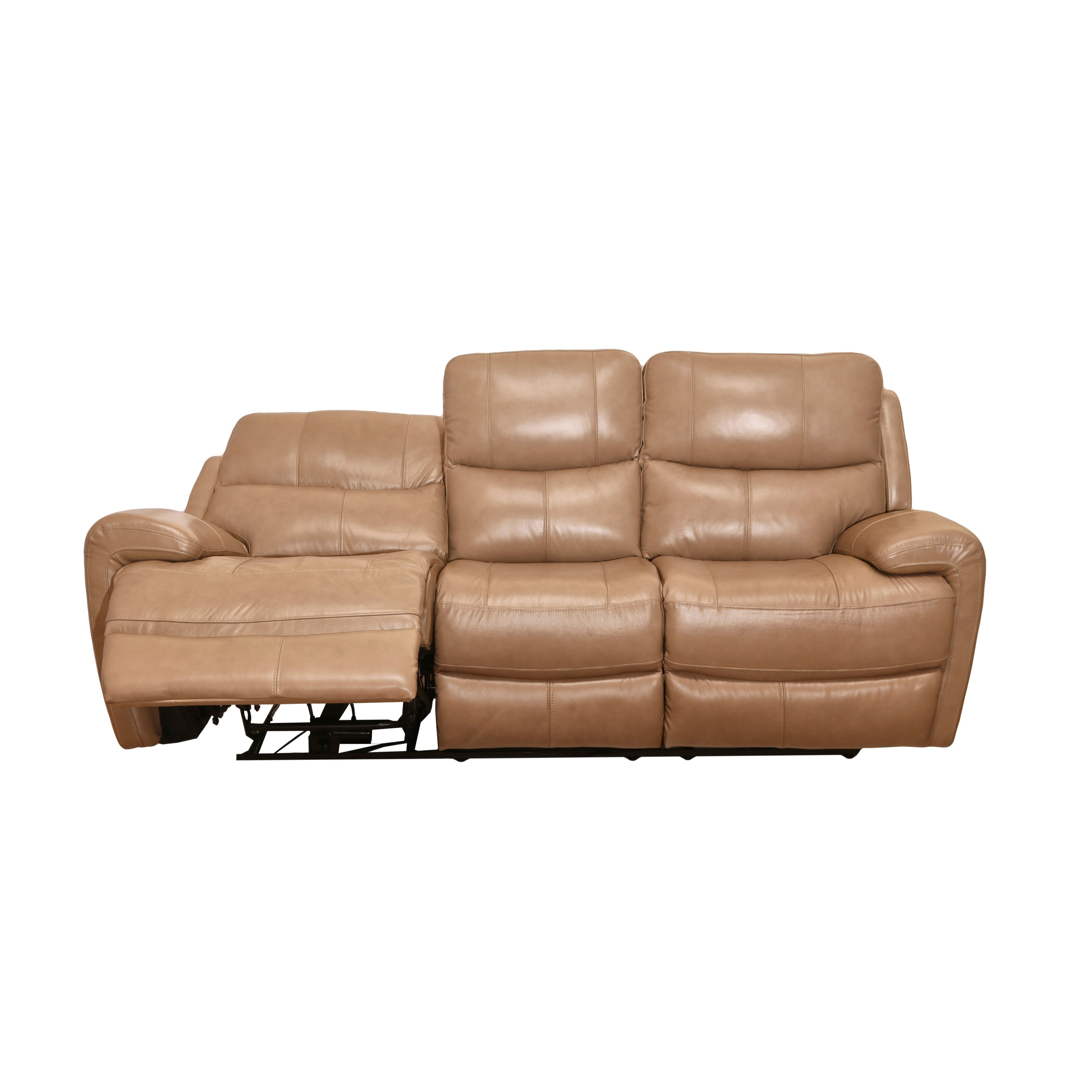 Murphy Top Grain Leather Reclining Sofa Manual Mahogany Tan Free Shipping Today 24361144