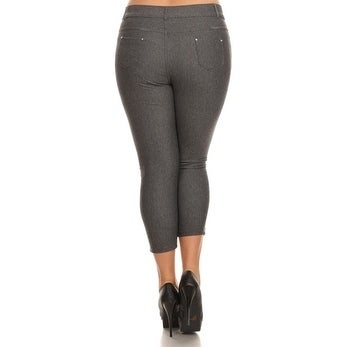 645208d84066ff Shop Women's Plus Size Basic 5 pocket Colored Capri Jeggings - Free  Shipping On Orders Over $45 - Overstock - 18220268