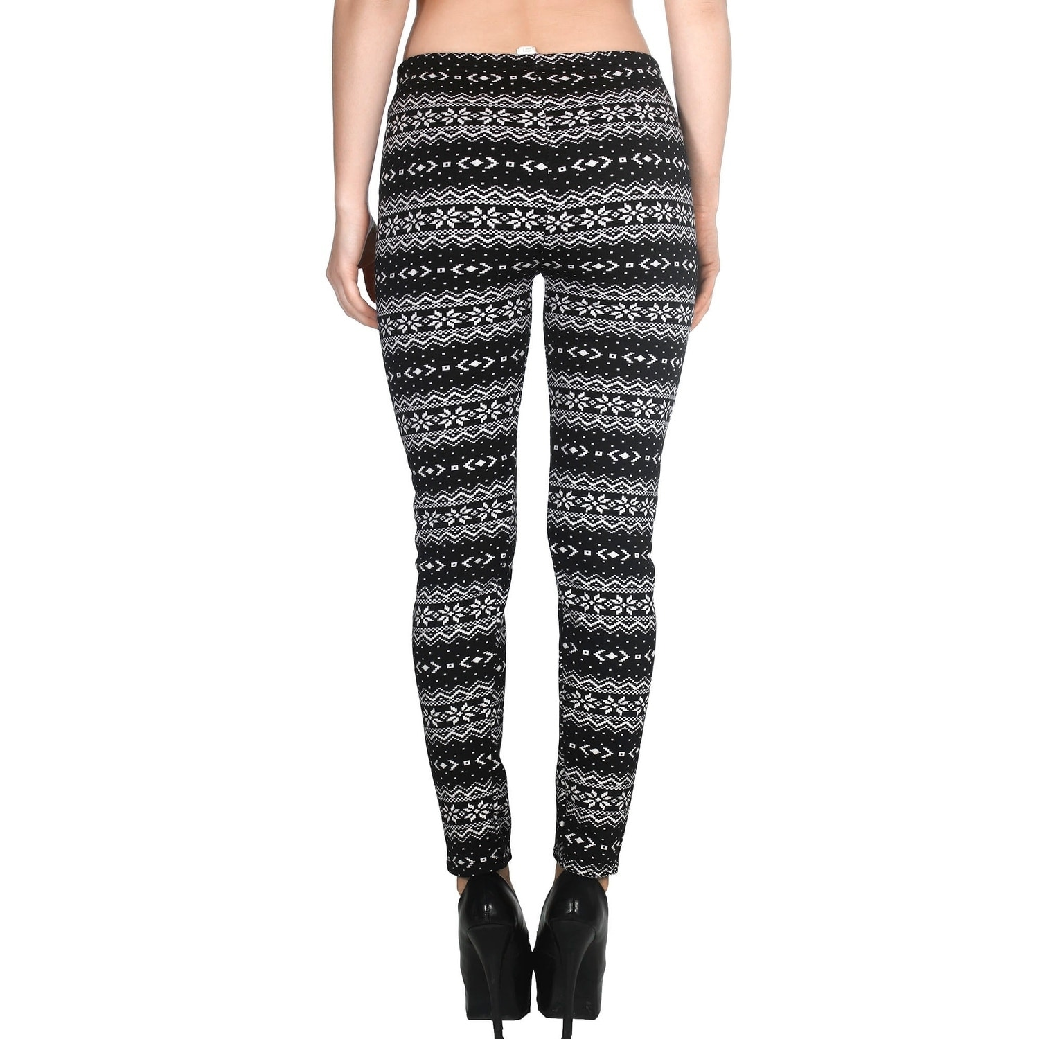 01a63b437f72fd Shop Women's Nordic Snowflake Fair Isle Knitted Fleece Lined Winter Leggings  - Free Shipping On Orders Over $45 - Overstock - 18220306