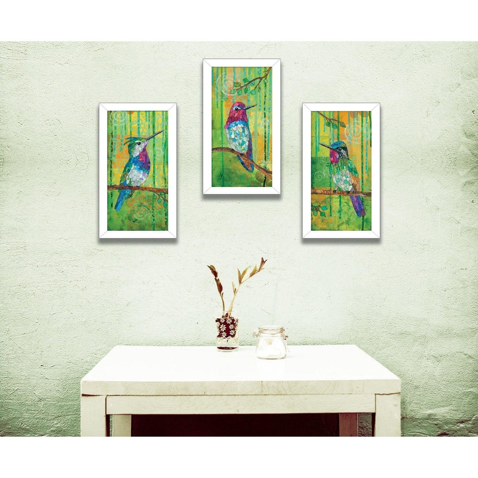 Shop Three Hummingbirds Collection By Lisa Morales Printed Wall