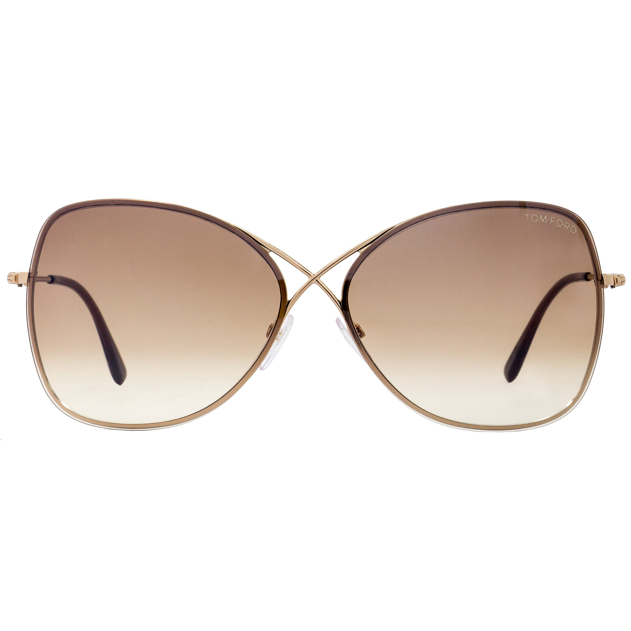 61a753aa07e1a Shop Tom Ford TF250 Colette 28F Women s Rose Gold Brown Gradient Lens  Sunglasses - Free Shipping Today - Overstock - 18221862