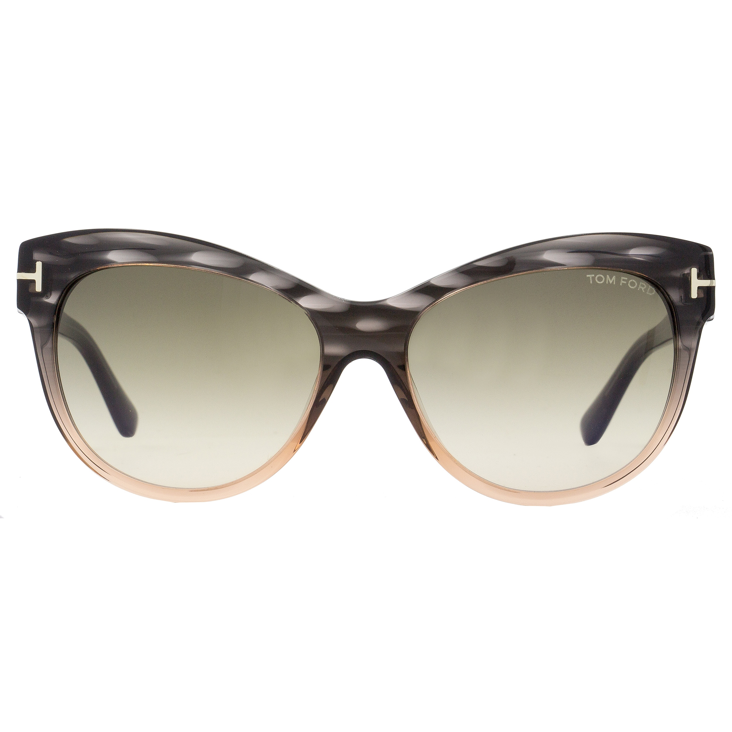 38897ca84993 Shop Tom Ford TF430 Lily 20P Women s Melange Gray Peach Rose Green Gradient  Lens Sunglasses - Free Shipping Today - Overstock - 18221895
