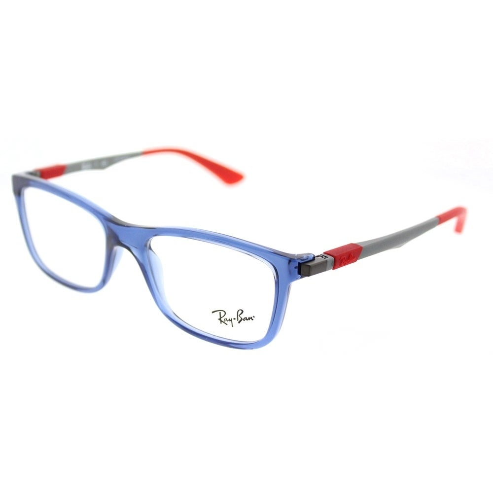 6271a6f34b8 ... free shipping shop ray ban square ry 1549 3734 childrens transparent  blue frame eyeglasses free shipping