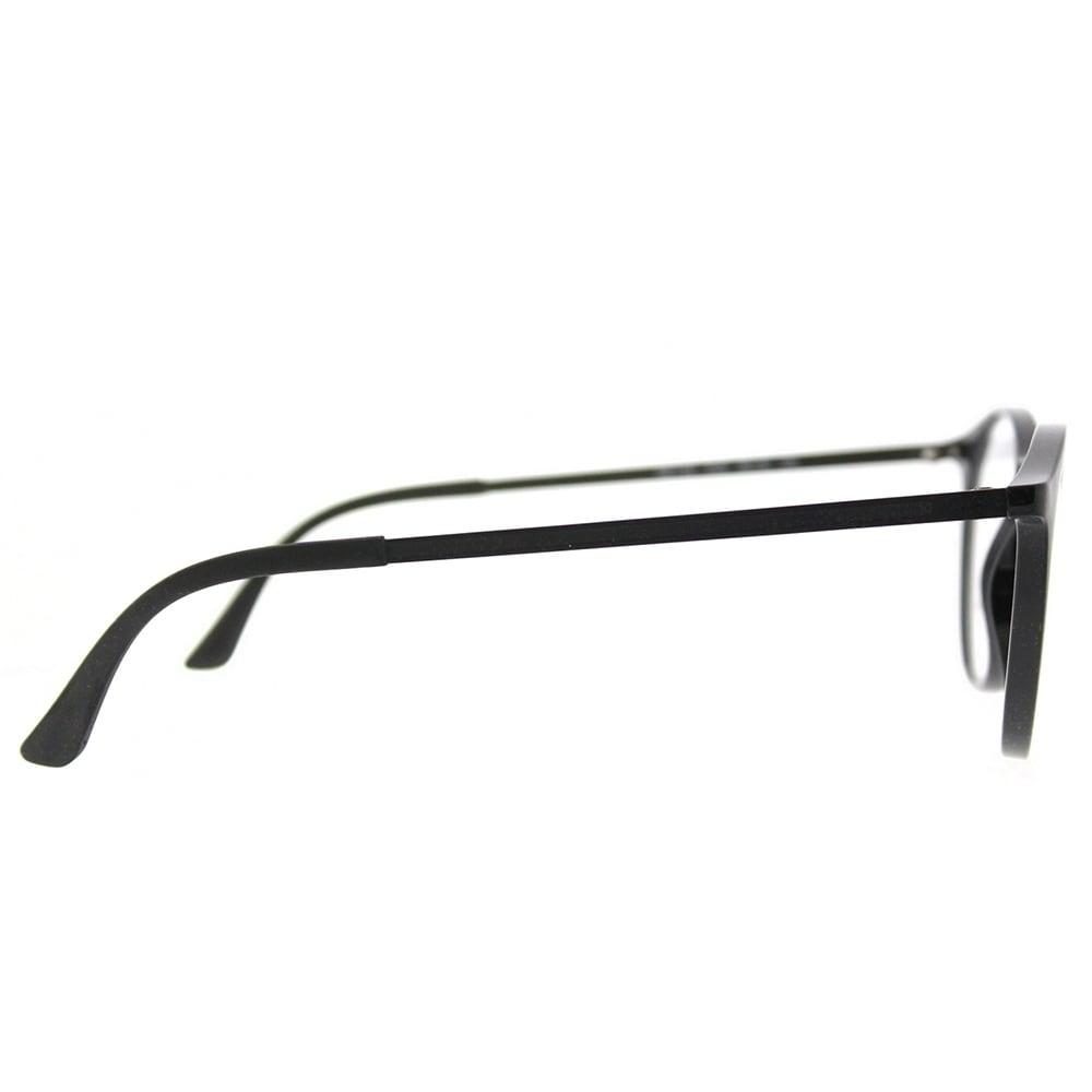 4045ea6e240 Shop Ray-Ban Round RX 7132 2000 Unisex Shiny Black Frame Eyeglasses - Free  Shipping Today - Overstock - 18224457