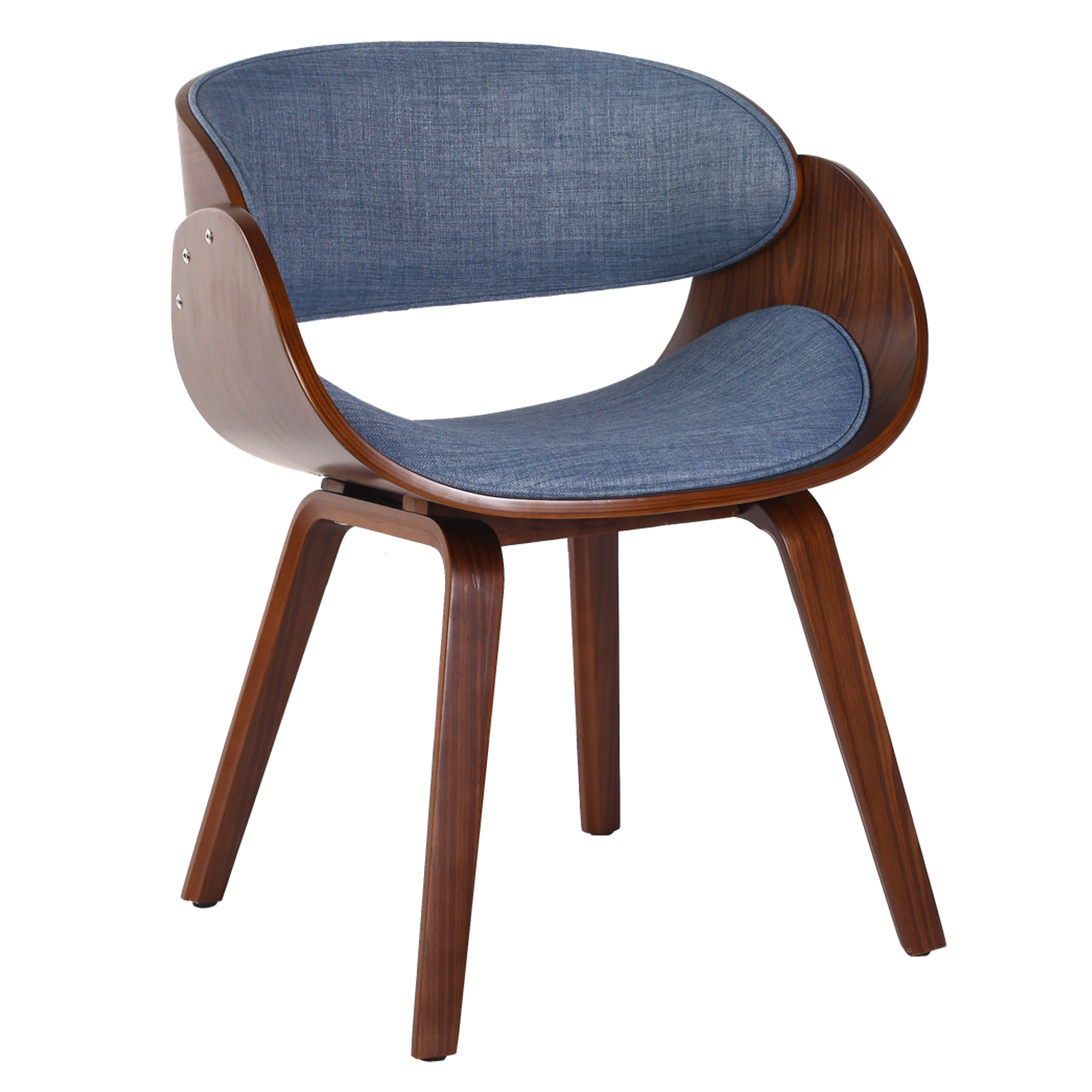 Porthos Home Living Room Chair With PVC Upholstery and Wooden Legs ...