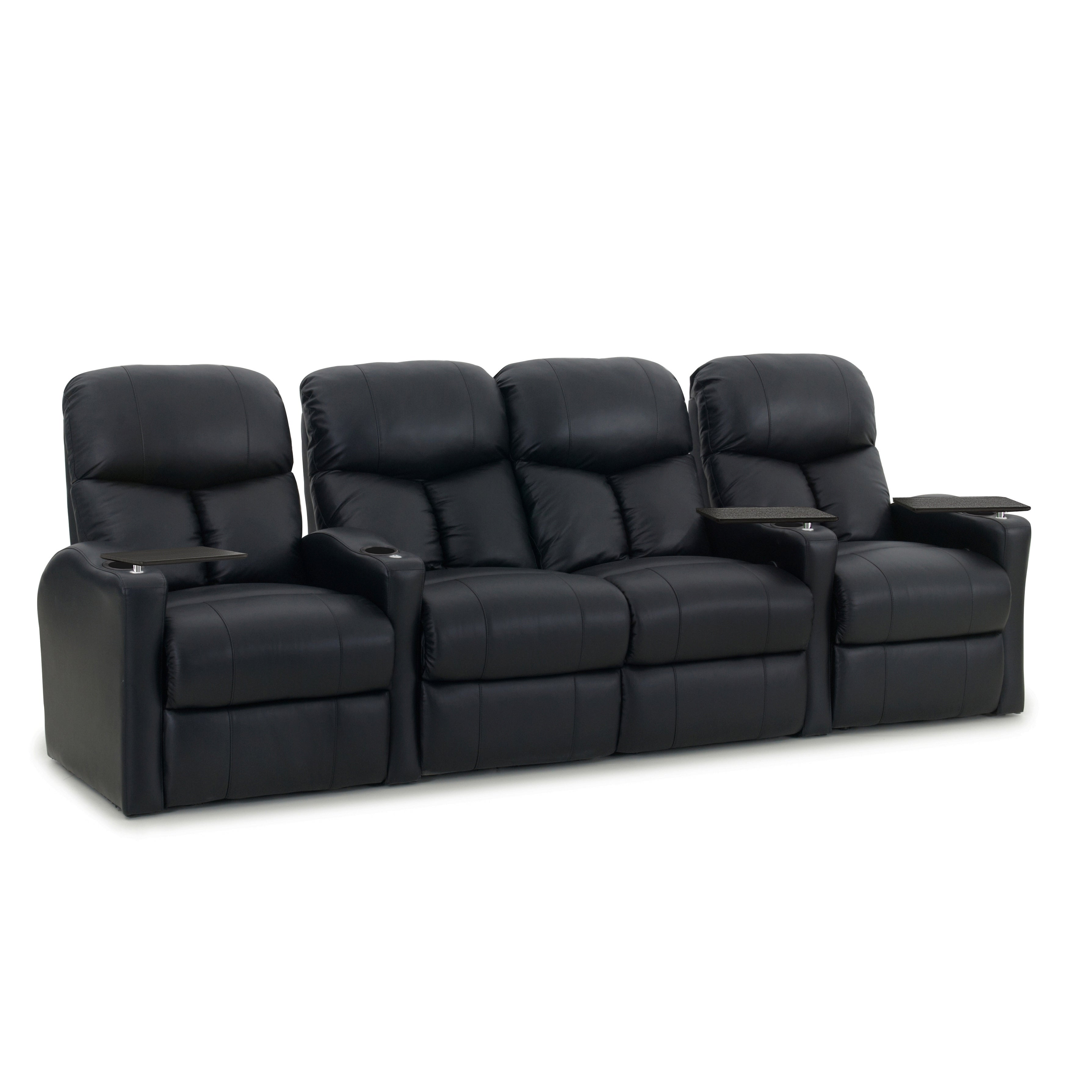shop octane bolt xs400 power leather home theater seating set row