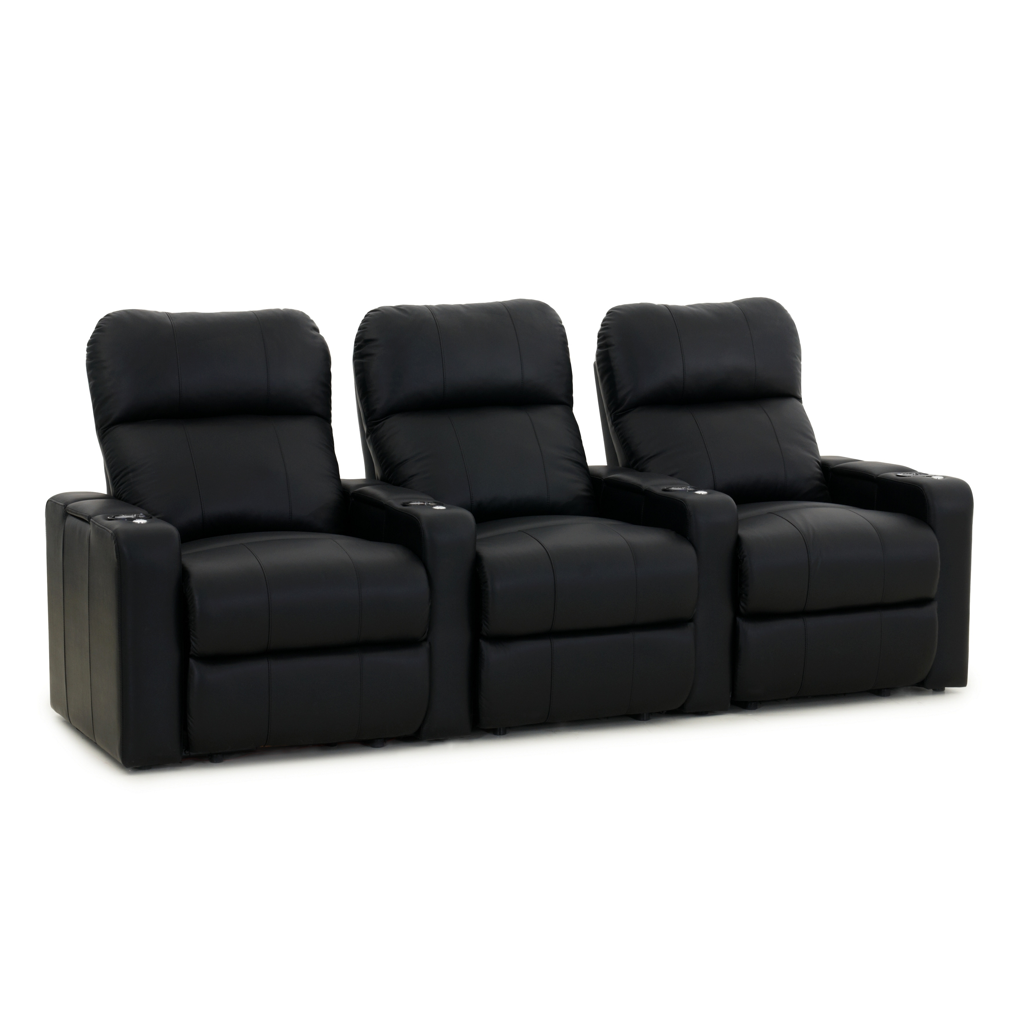 Octane Turbo Xl700 Manual Leather Home Theater Seating Set Row Of 3 Free Shipping Today 18225586