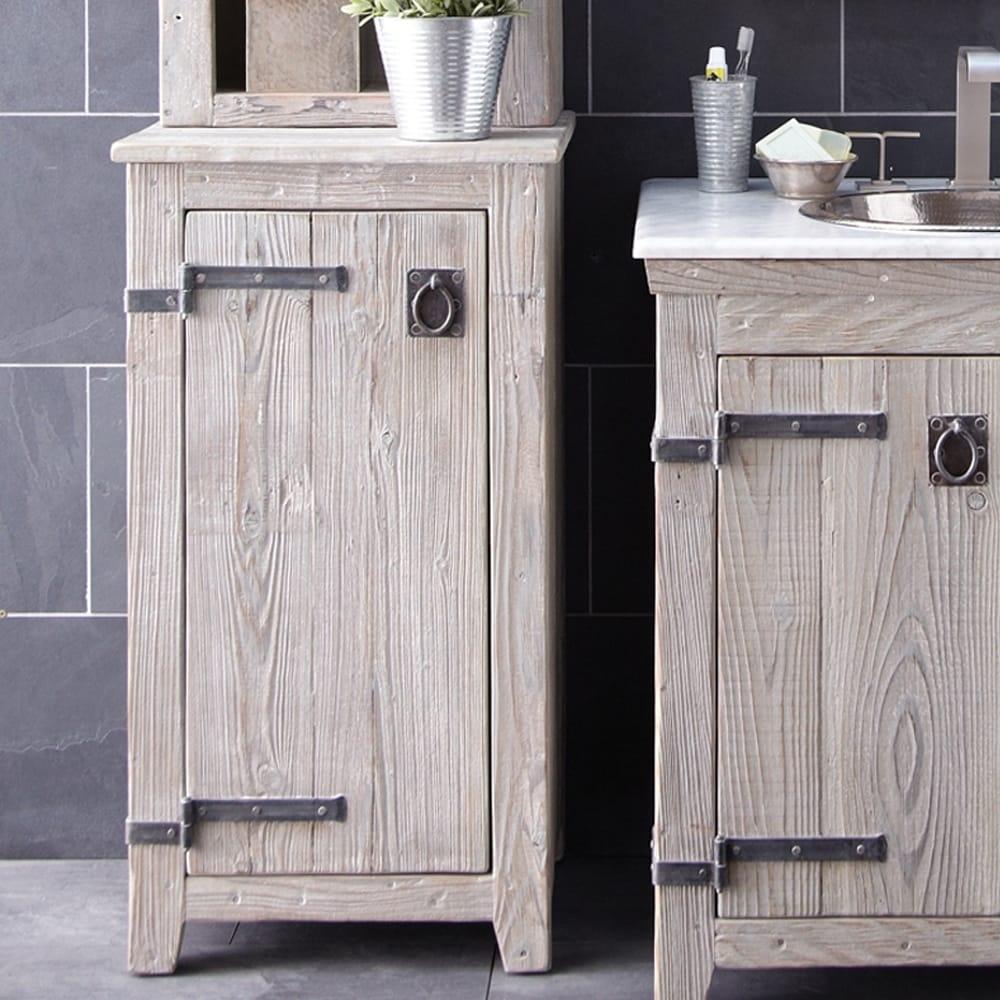 Americana Reclaimed Wood Bathroom Floor Cabinet - Free Shipping ...