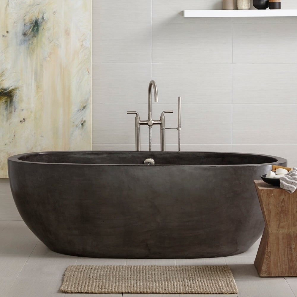 Shop Avalon NativeStone Freestanding Soaking Tub - Free Shipping ...