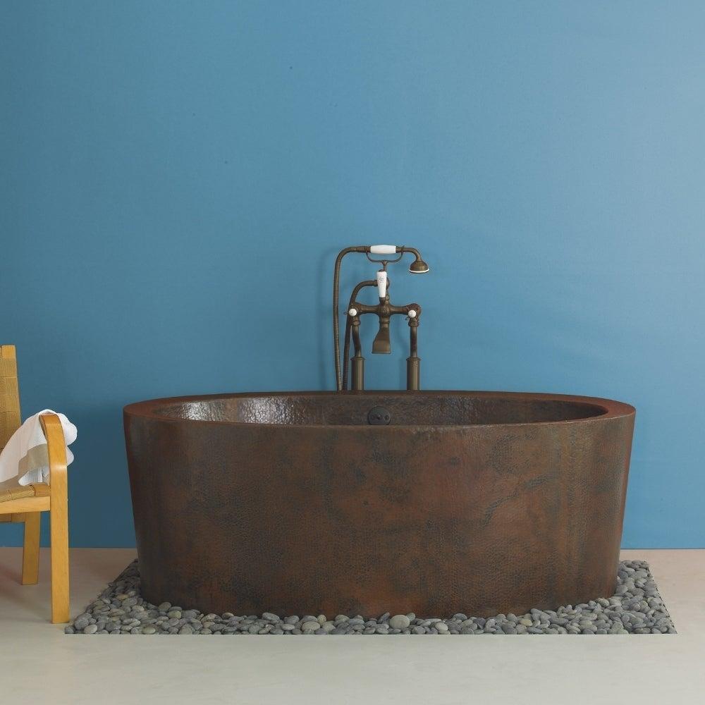 Aspen Antique Copper 64-inch Freestanding Soaking Bathtub - ANTIQUE ...