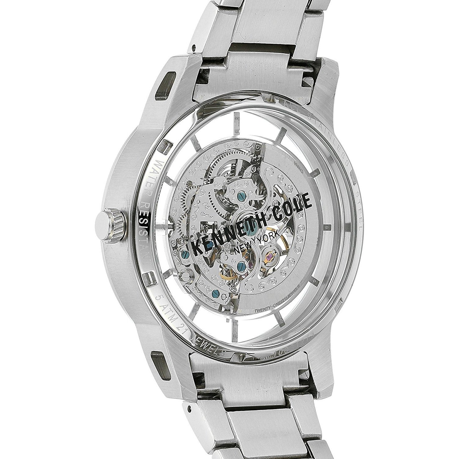 9605590f89b Shop Kenneth Cole New York Men s Automatic 10031273 Skeleton Stainless  Steel Watch - Free Shipping Today - Overstock - 18226112