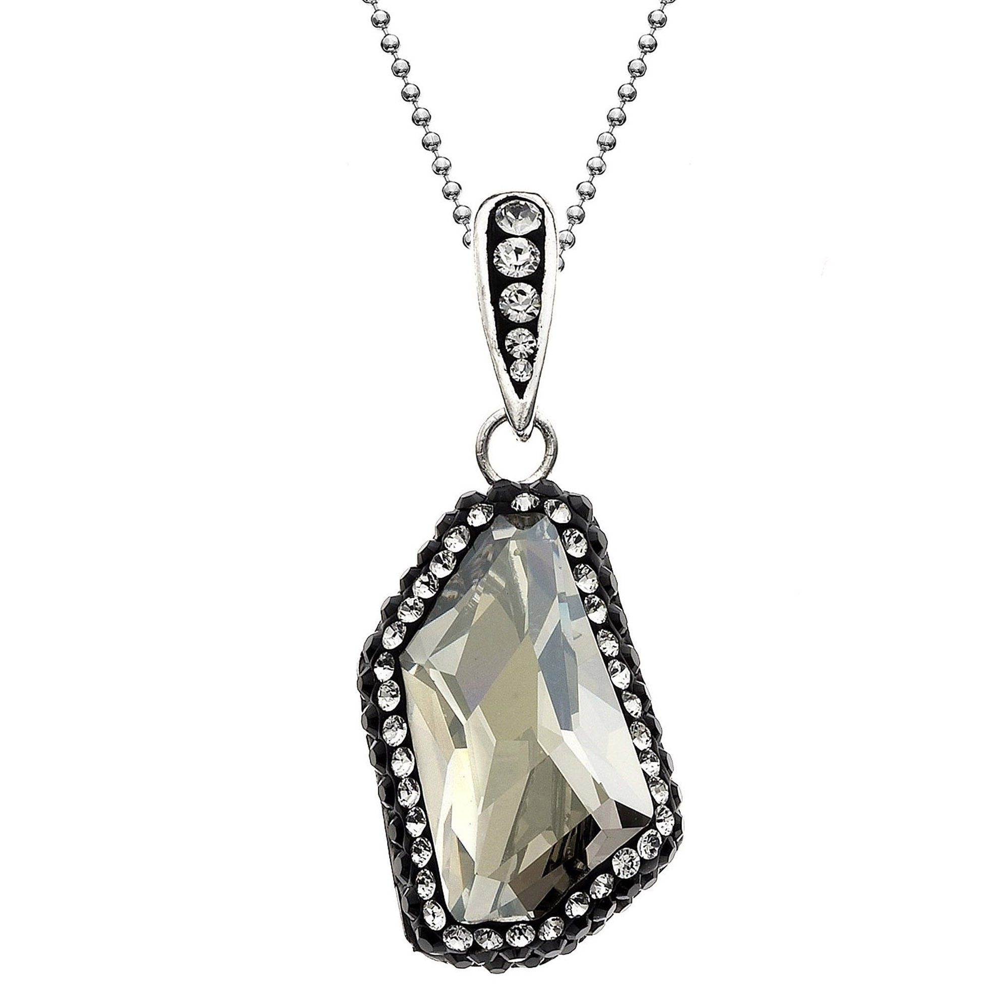 9b323c2164fb0 Isla Simone Rhodium Plated Sterling Silver Pendant Necklace, Made with  Swarovski Crystal Elements
